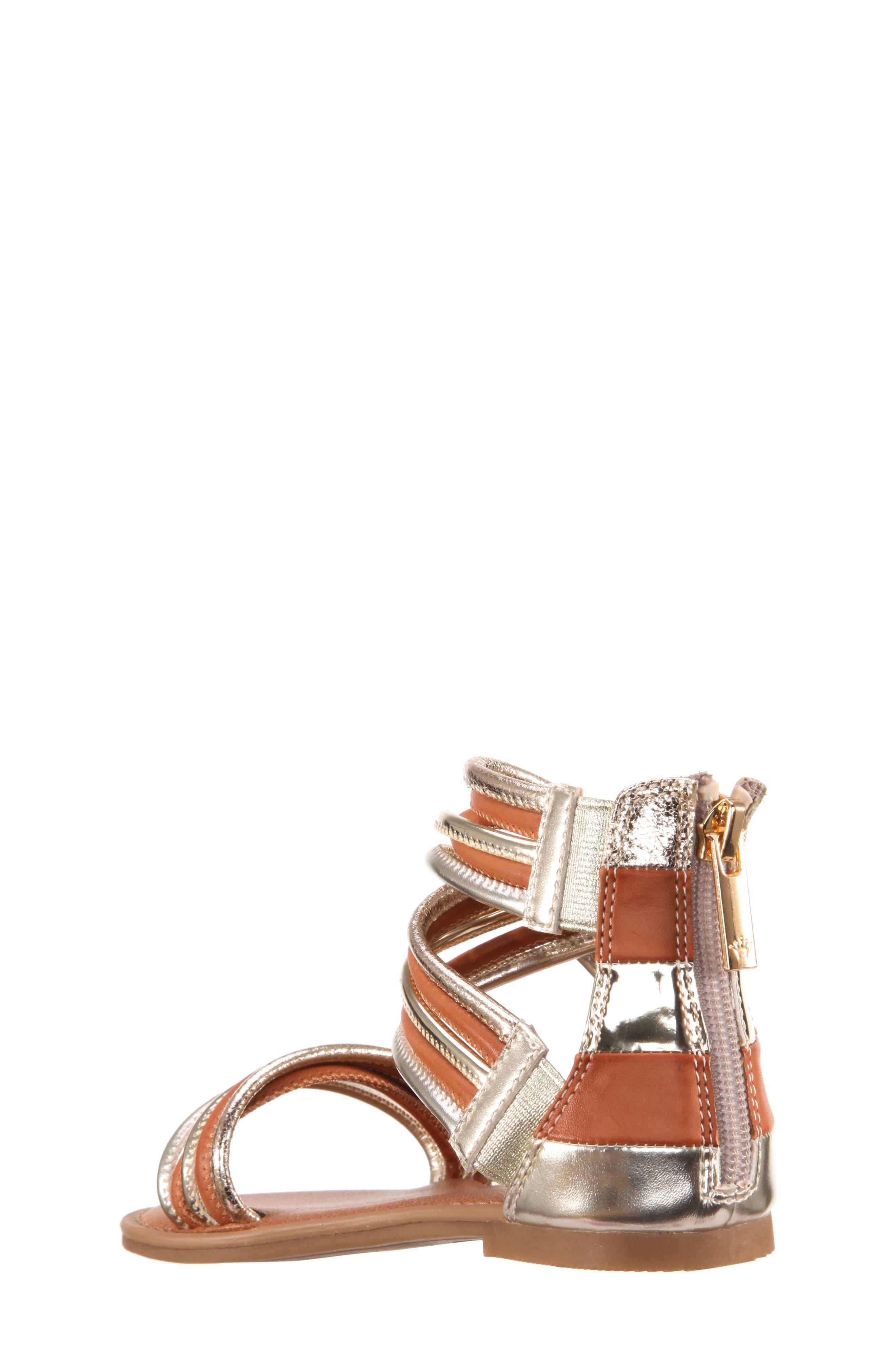 Roxsanne Multistrap Sandal,                             Alternate thumbnail 2, color,                             Platino Metallic