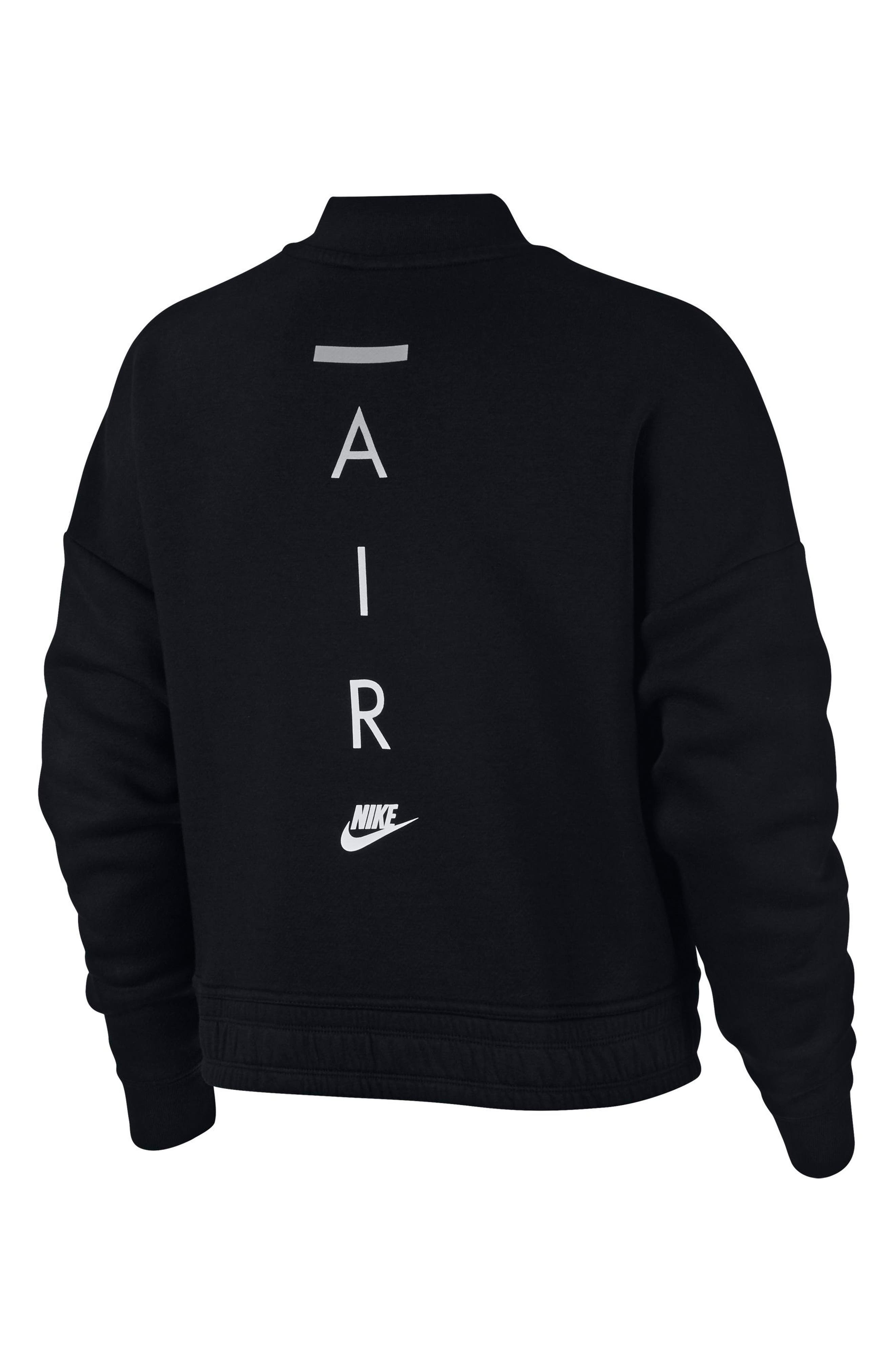Sportswear Rally Jacket,                             Alternate thumbnail 6, color,                             Black/ Black/ Black
