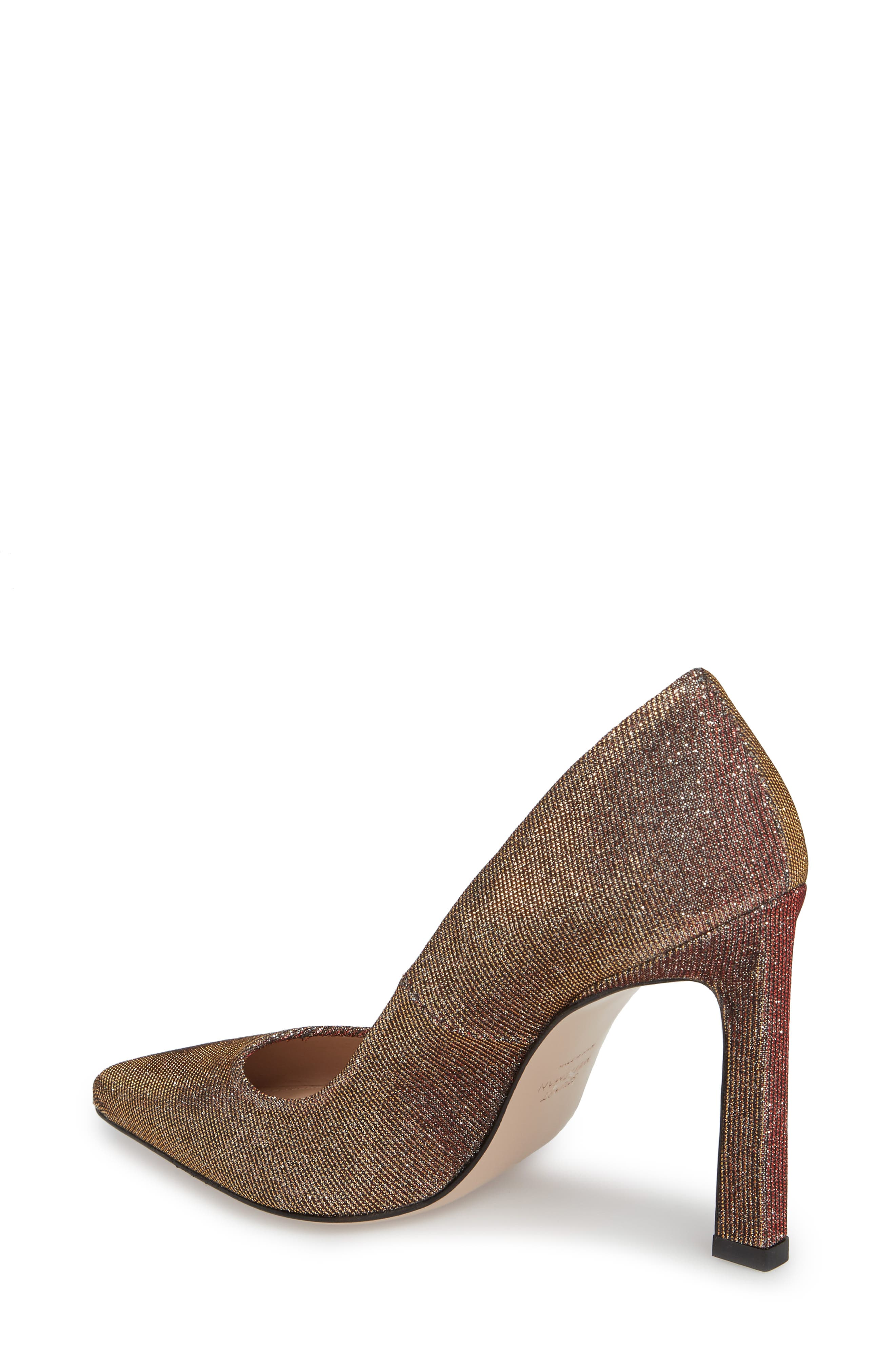 Chicster Pointy Toe Pump,                             Alternate thumbnail 2, color,                             Bronze Nighttime