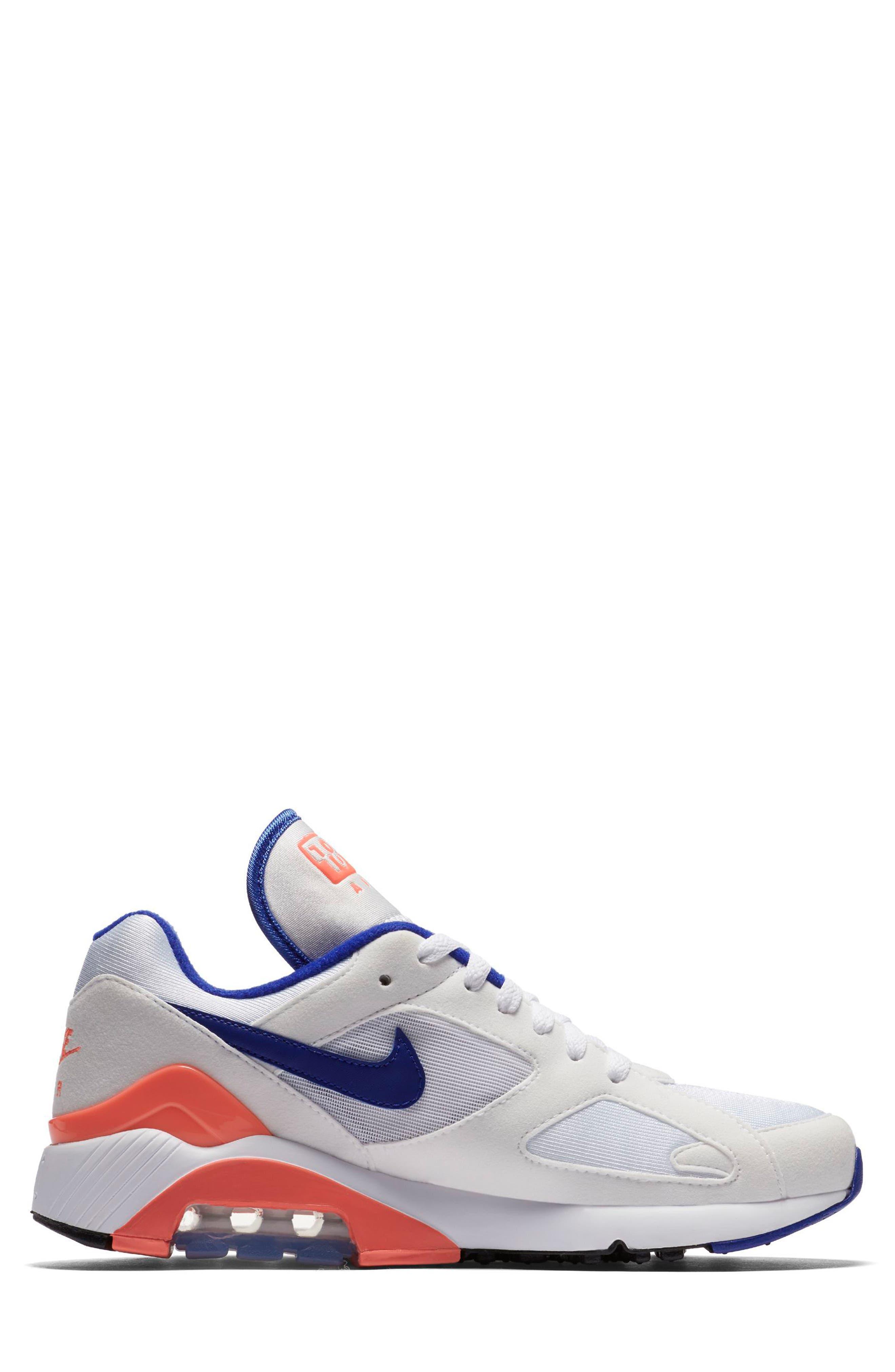 Air Max 180 Sneaker,                             Alternate thumbnail 3, color,                             White/ Ultramarine