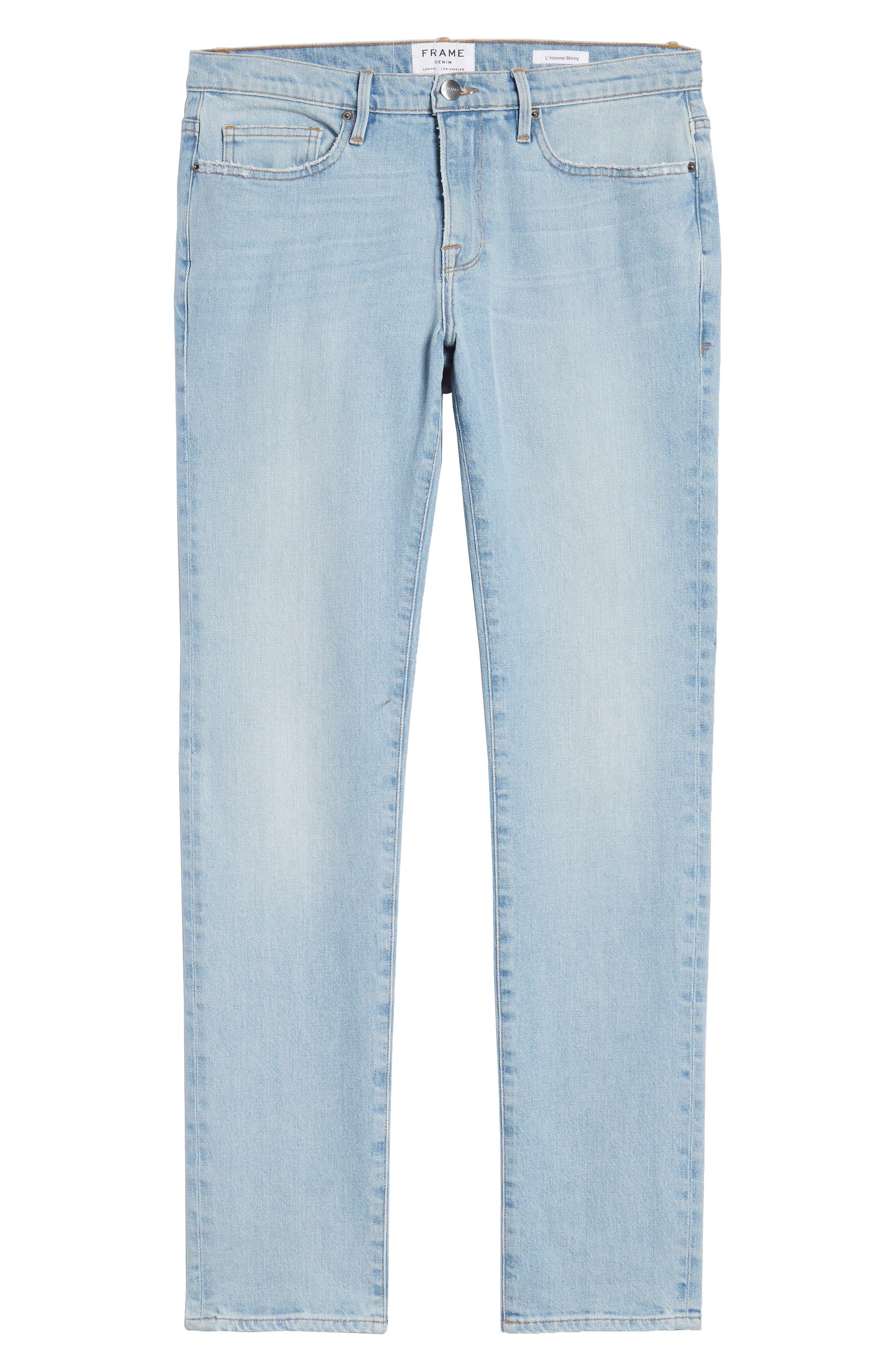 L'Homme Skinny Fit Jeans,                             Alternate thumbnail 6, color,                             Arnett