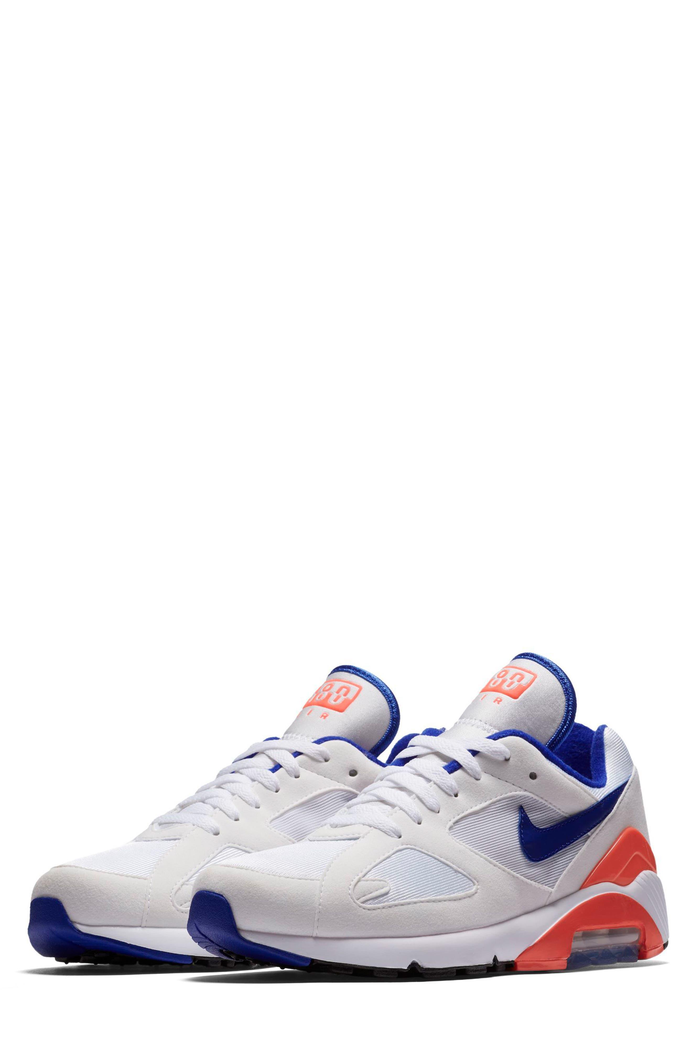 Air Max 180 Sneaker,                         Main,                         color, White/ Ultramarine