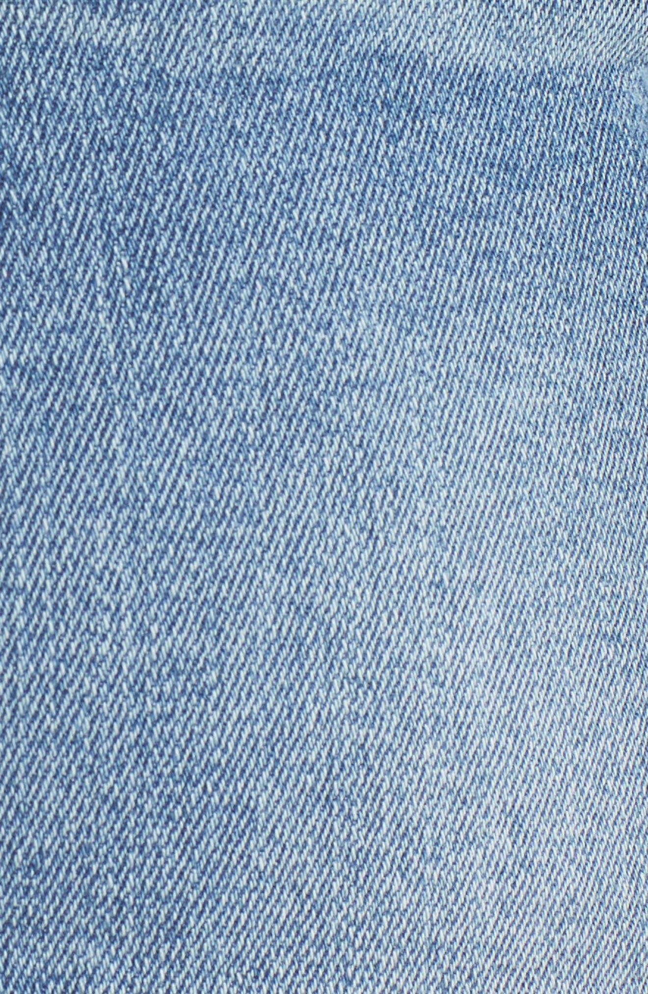 Ab-solution Denim Bermuda Shorts,                             Alternate thumbnail 5, color,                             Light Blue