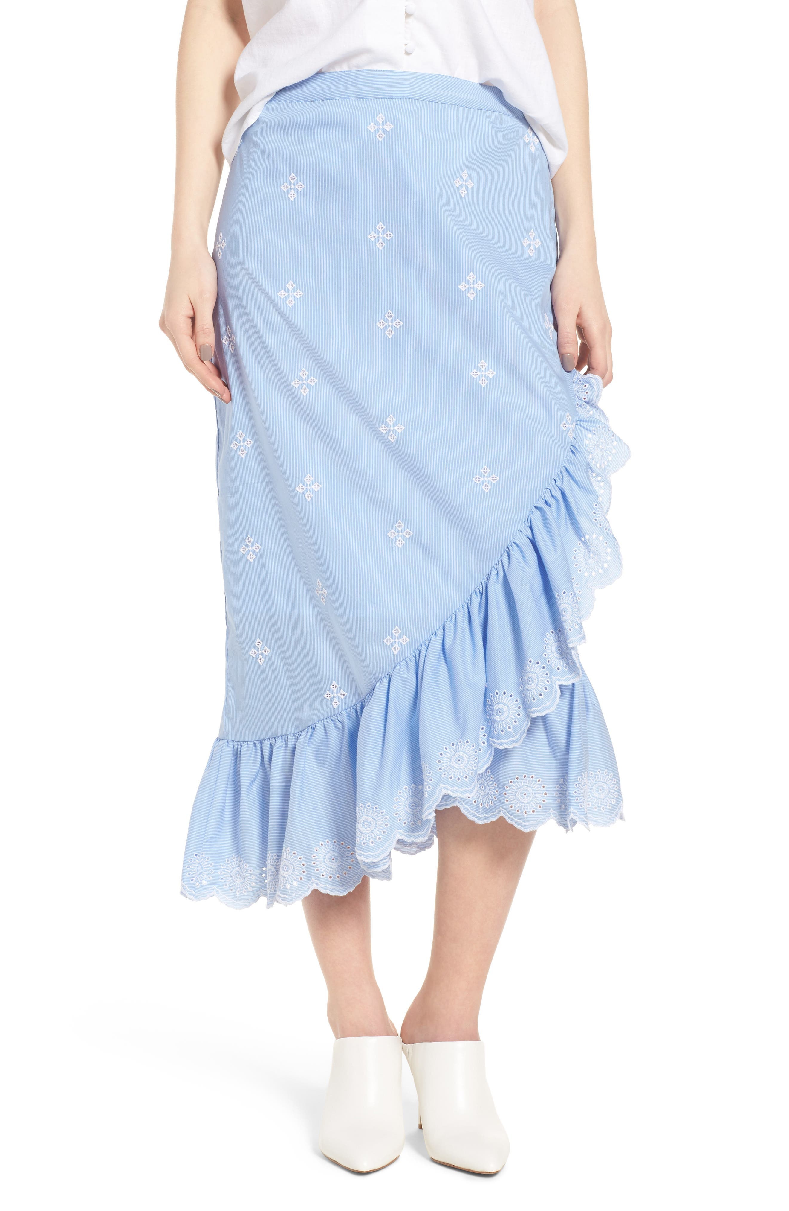Chelsea28 Ruffle Midi Skirt