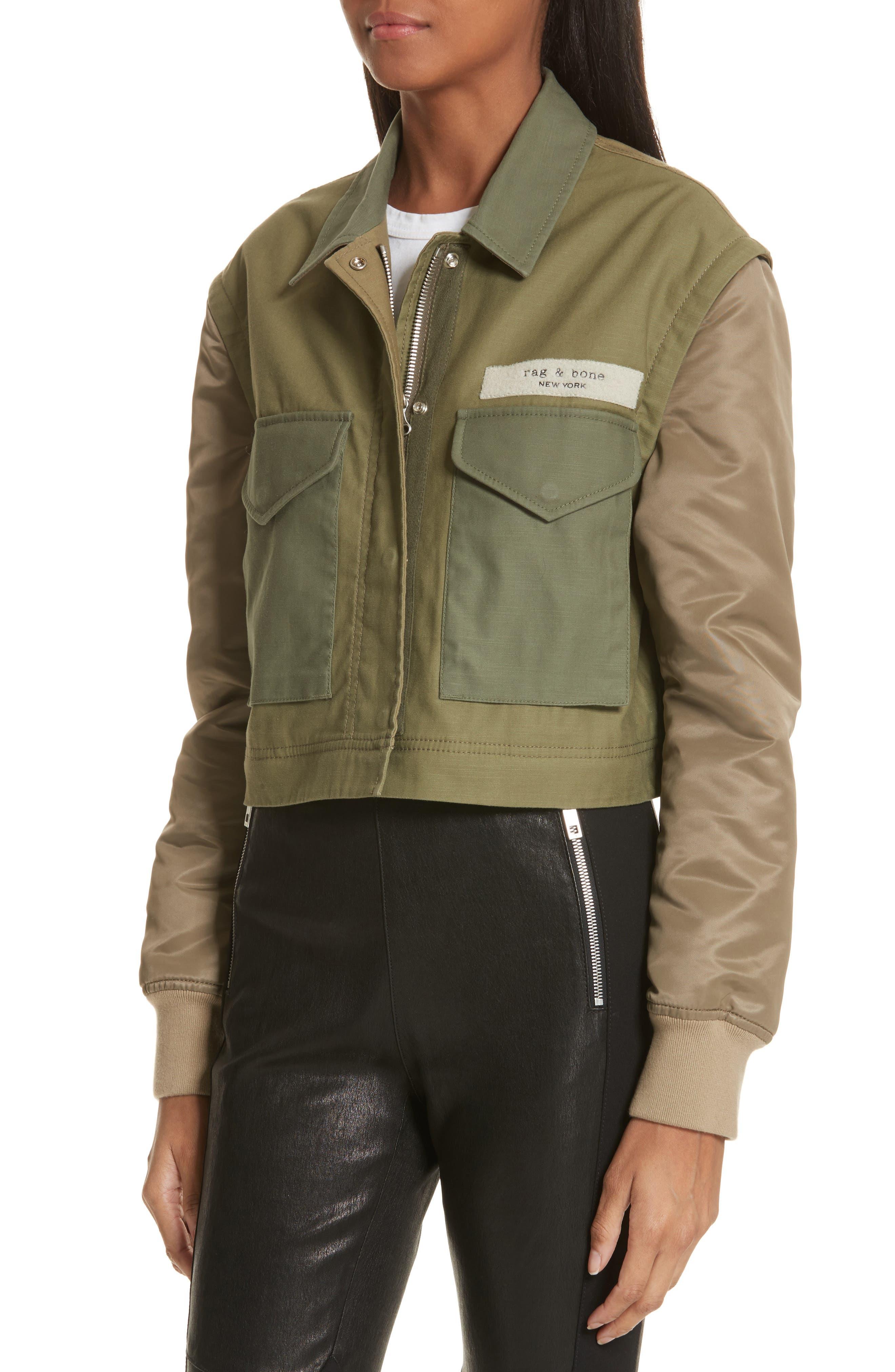 Modular Field Convertible Cotton Jacket,                             Alternate thumbnail 4, color,                             Dark Olive