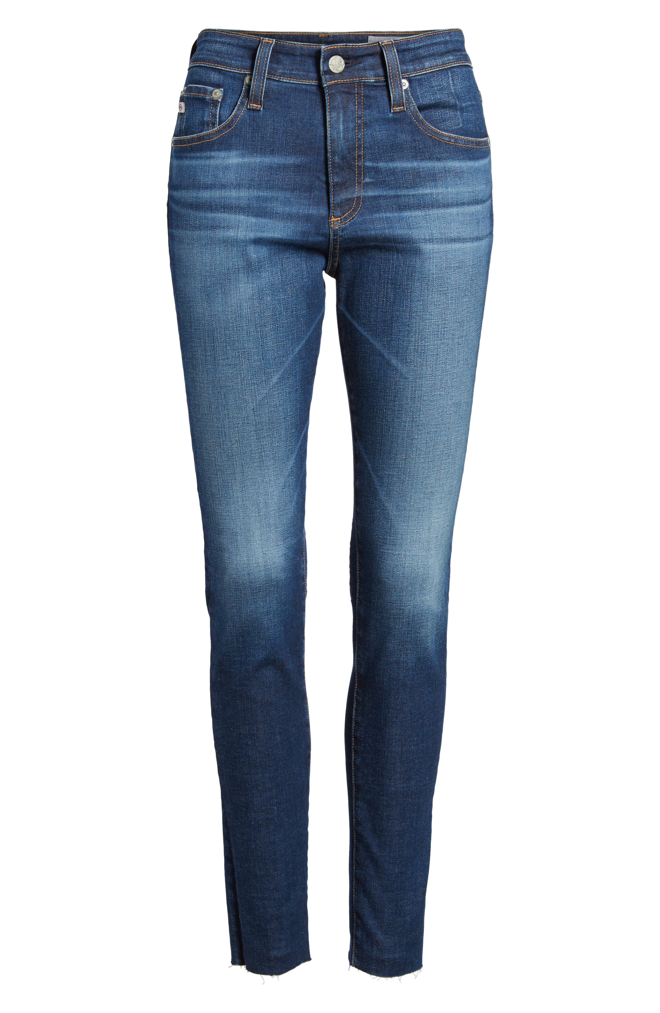 The Farrah High Waist Ankle Skinny Jeans,                             Alternate thumbnail 7, color,                             7 Year Chasm