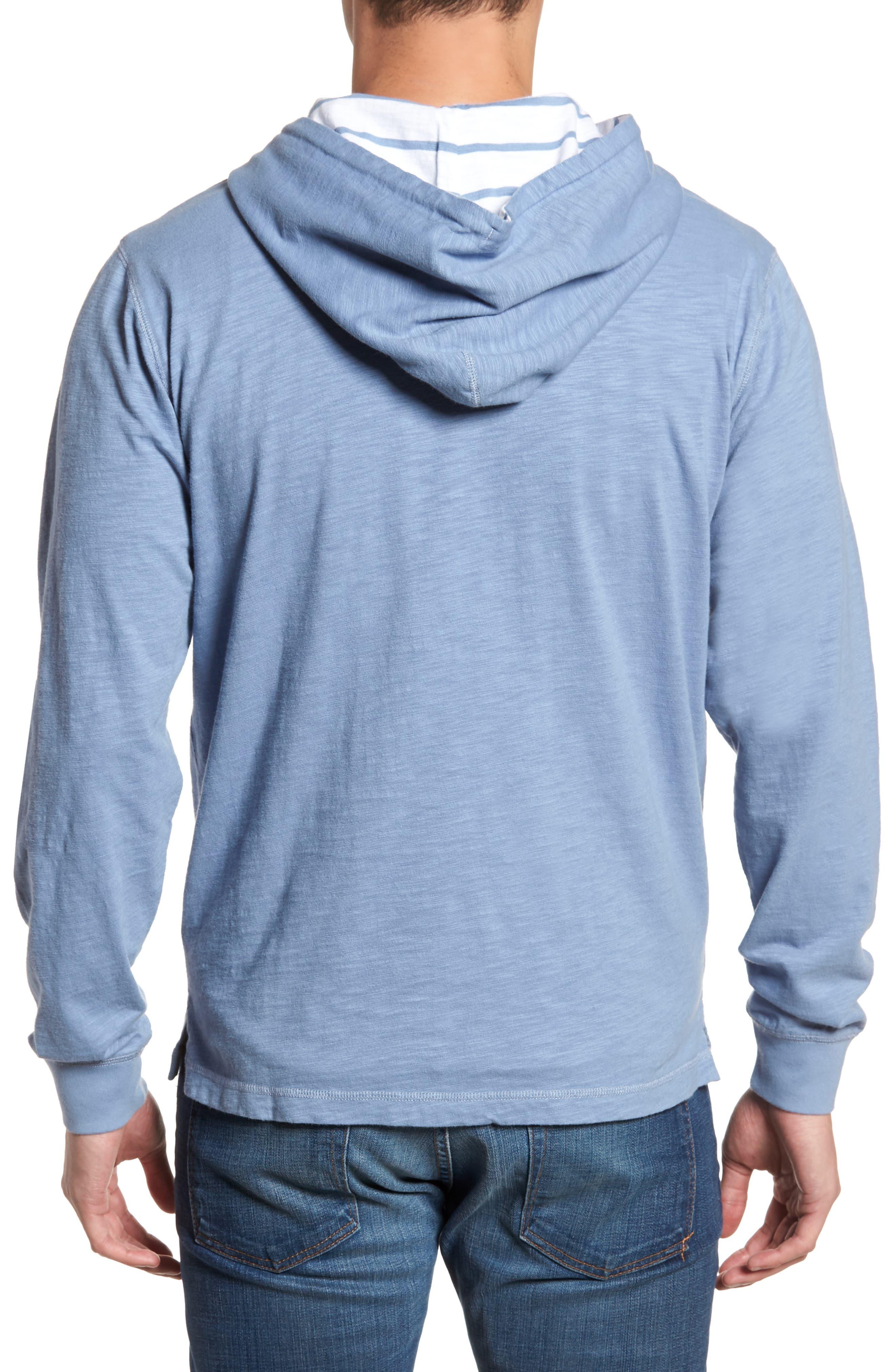 Ocean Course Slub Cotton Hoodie,                             Alternate thumbnail 2, color,                             Squall Grey
