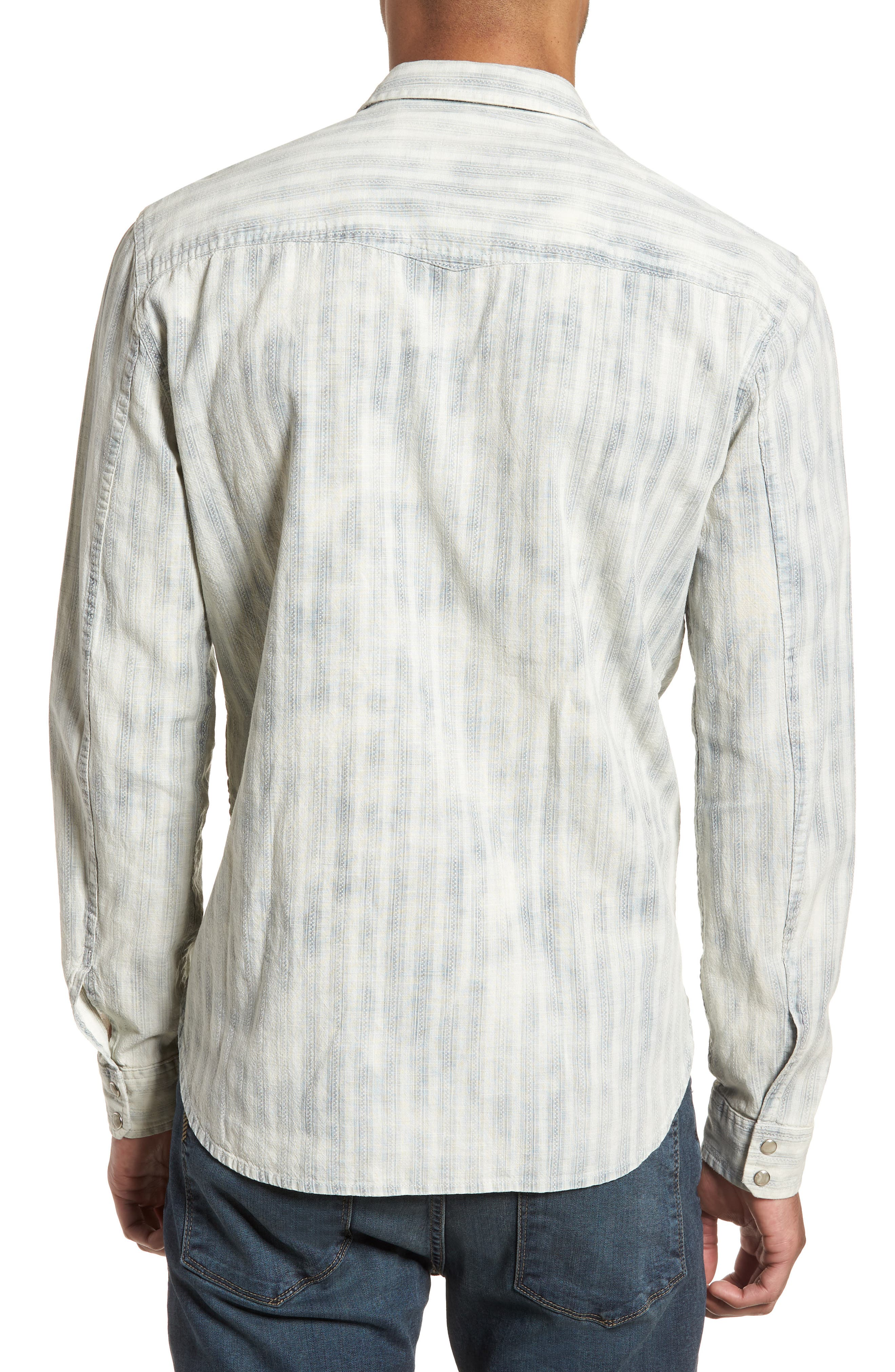Extra Slim Fit Western Shirt,                             Alternate thumbnail 2, color,                             Reflection Grey