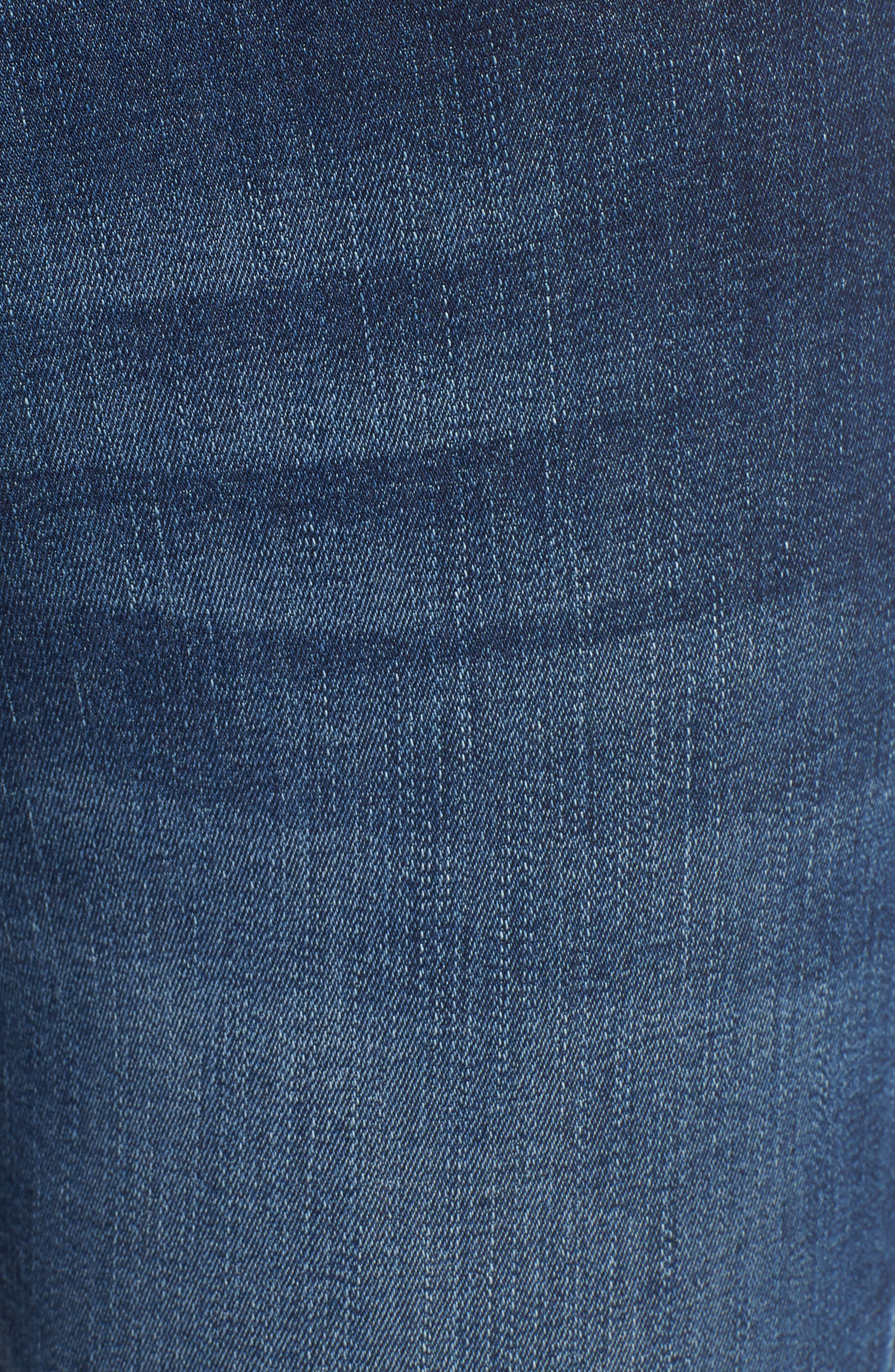 Chrissy Trimtone High Waist Skinny Jeans,                             Alternate thumbnail 5, color,                             Bal Harbour