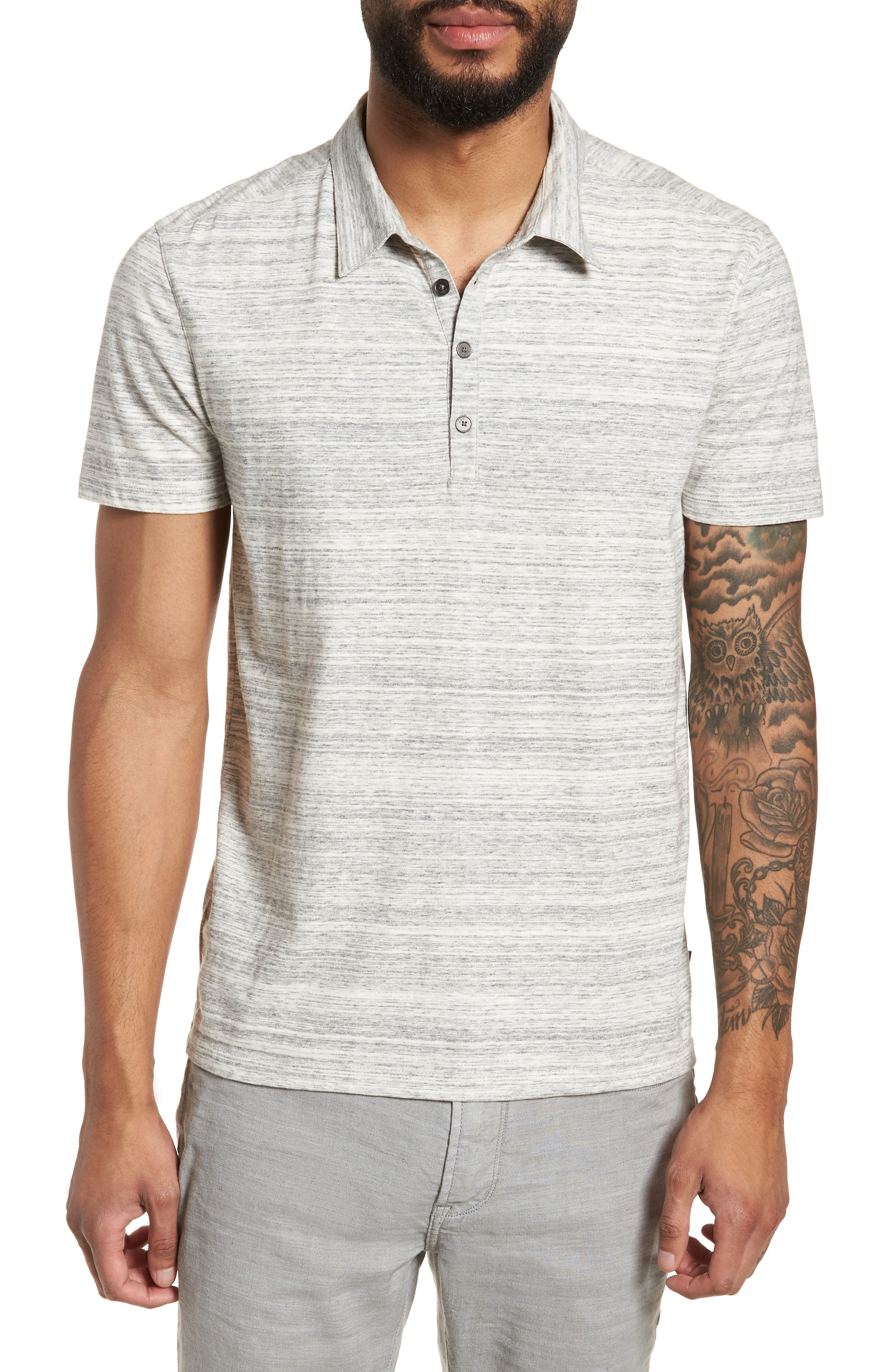 Slim Fit Polo,                         Main,                         color, Griffin Grey