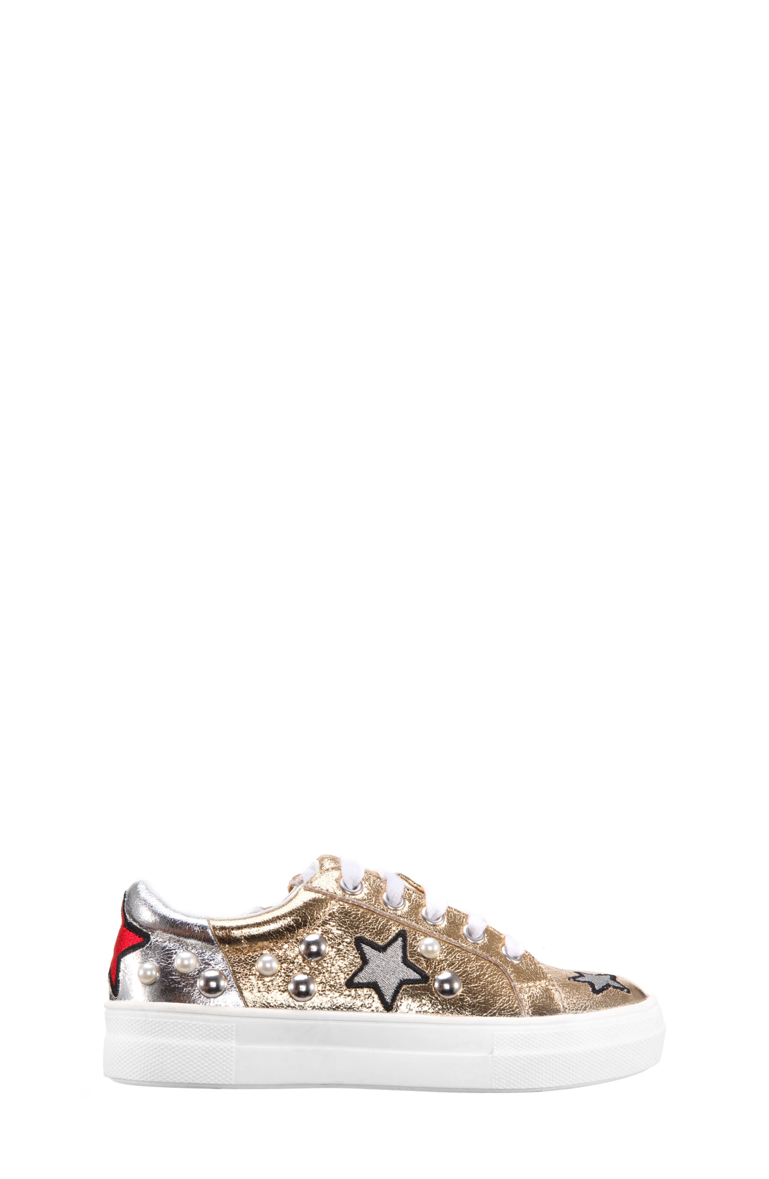 Kryslyn Metallic Sneaker,                             Alternate thumbnail 3, color,                             Platino Crackle