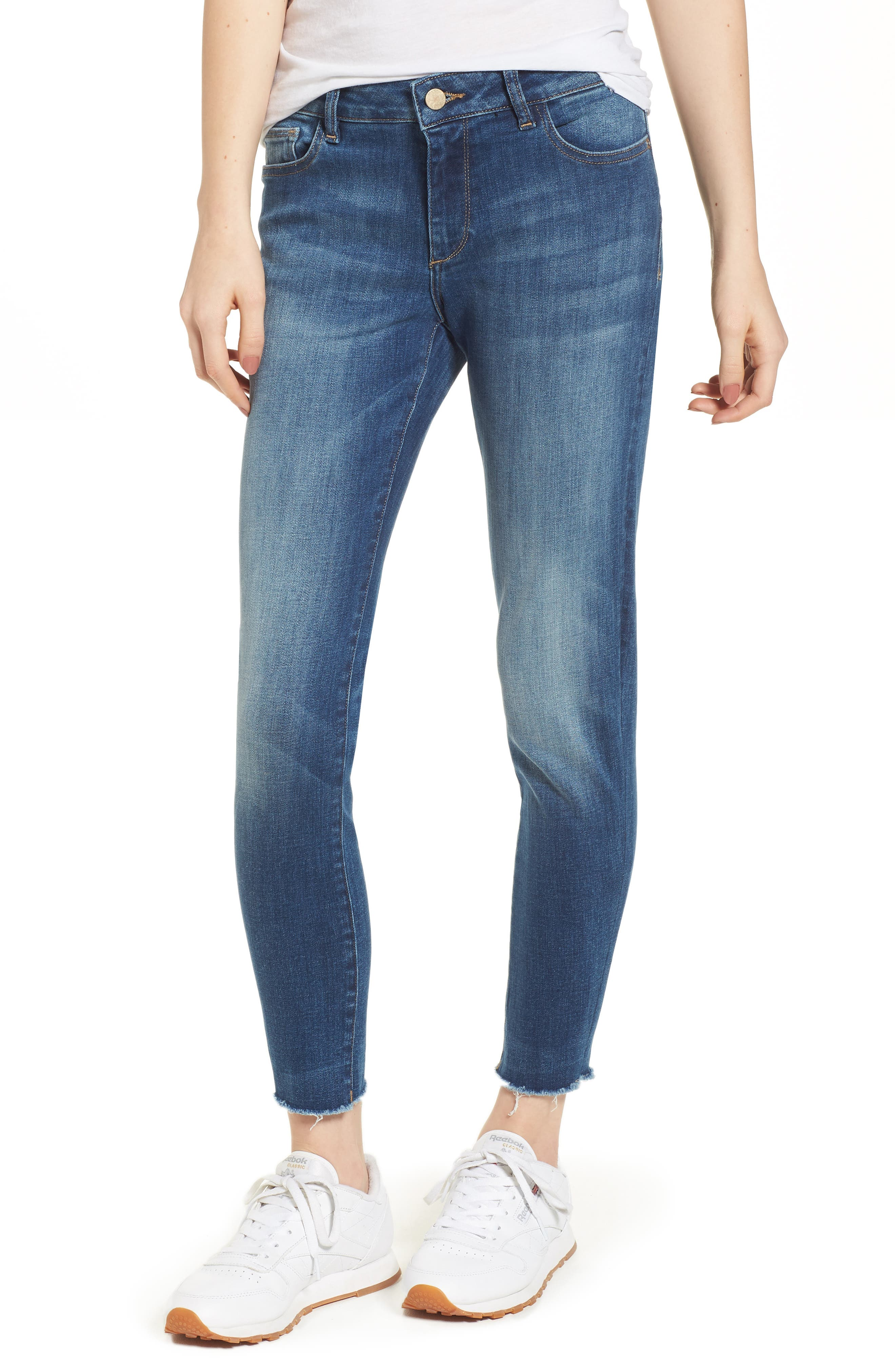 Coco Curvy Ankle Skinny Jeans,                             Main thumbnail 1, color,                             Callahan