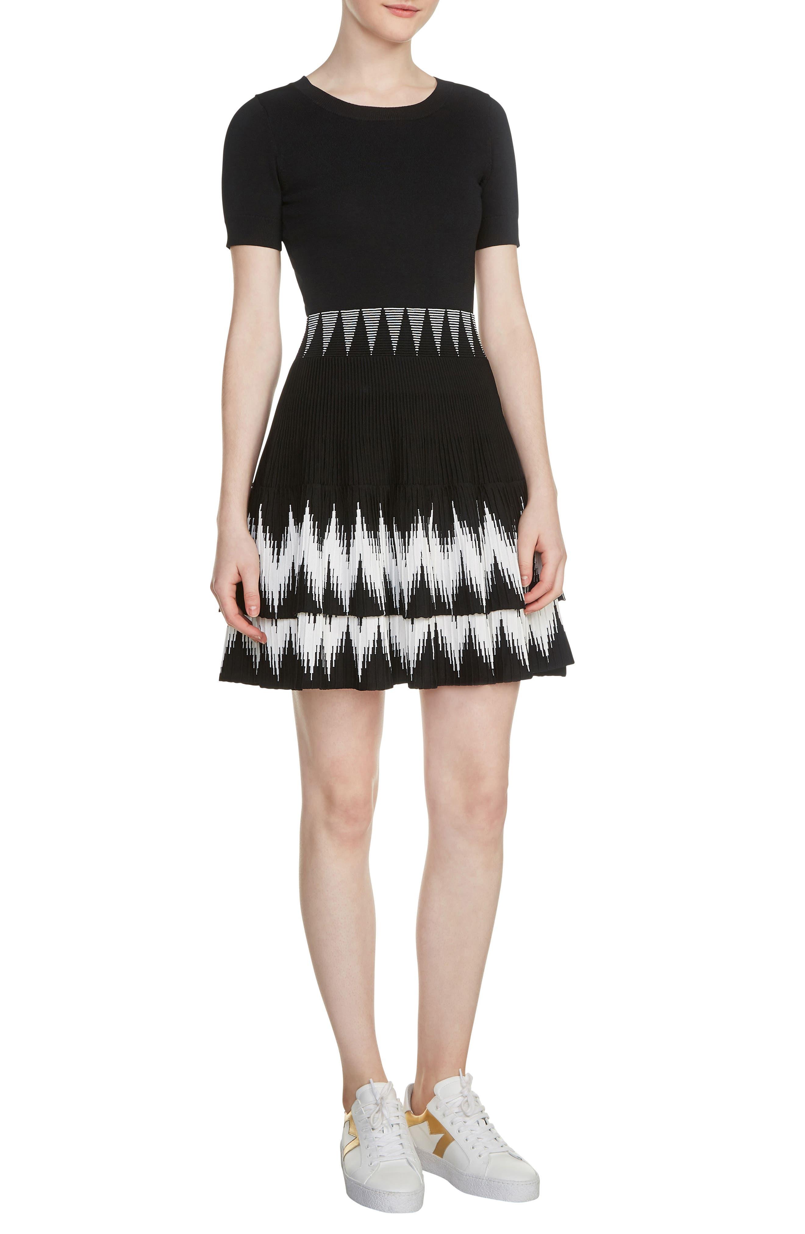 Ralia Skater Dress,                             Main thumbnail 1, color,                             Black 210