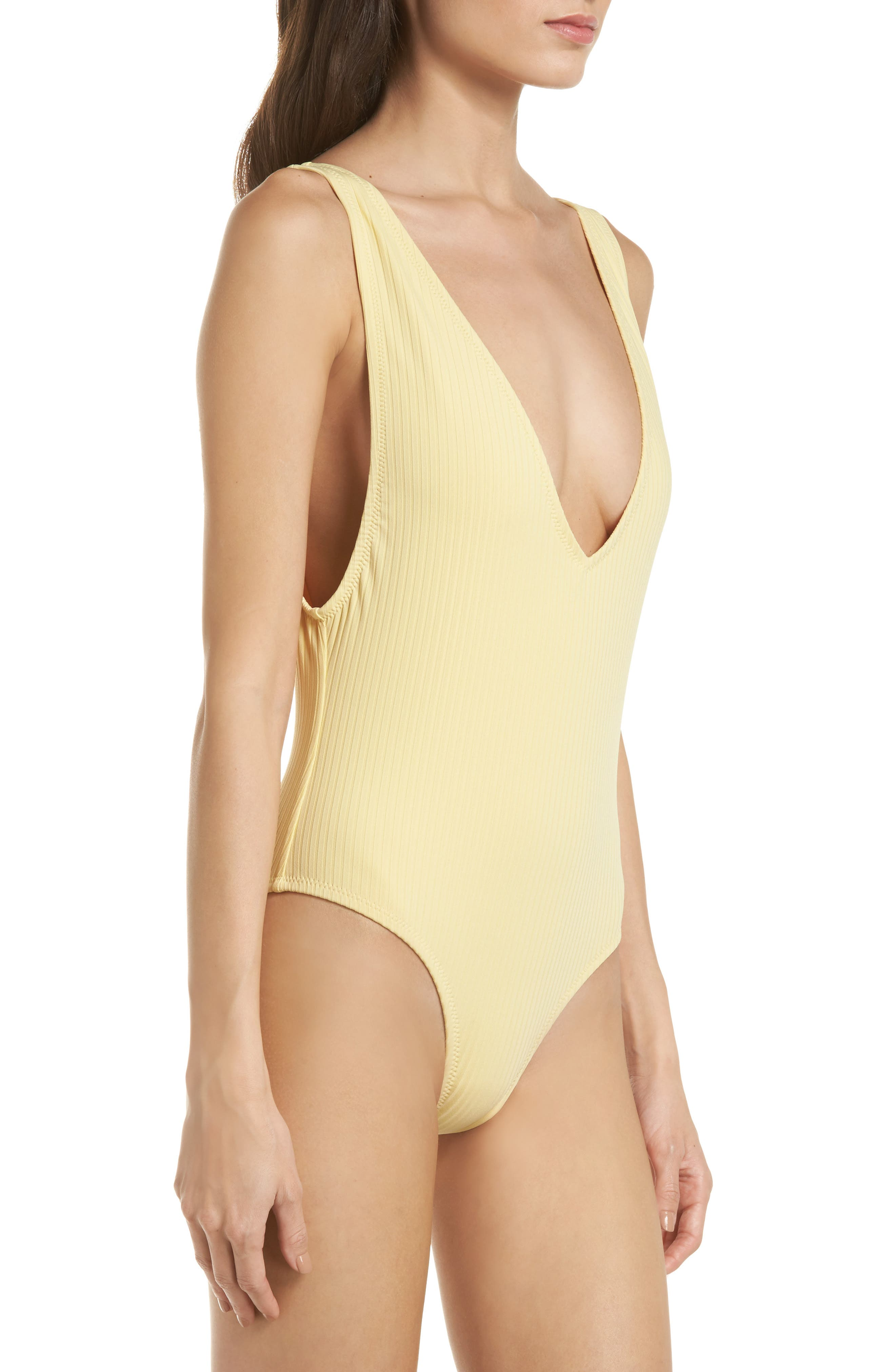 Vermont One-Piece Swimsuit,                             Alternate thumbnail 3, color,                             Soft Yellow