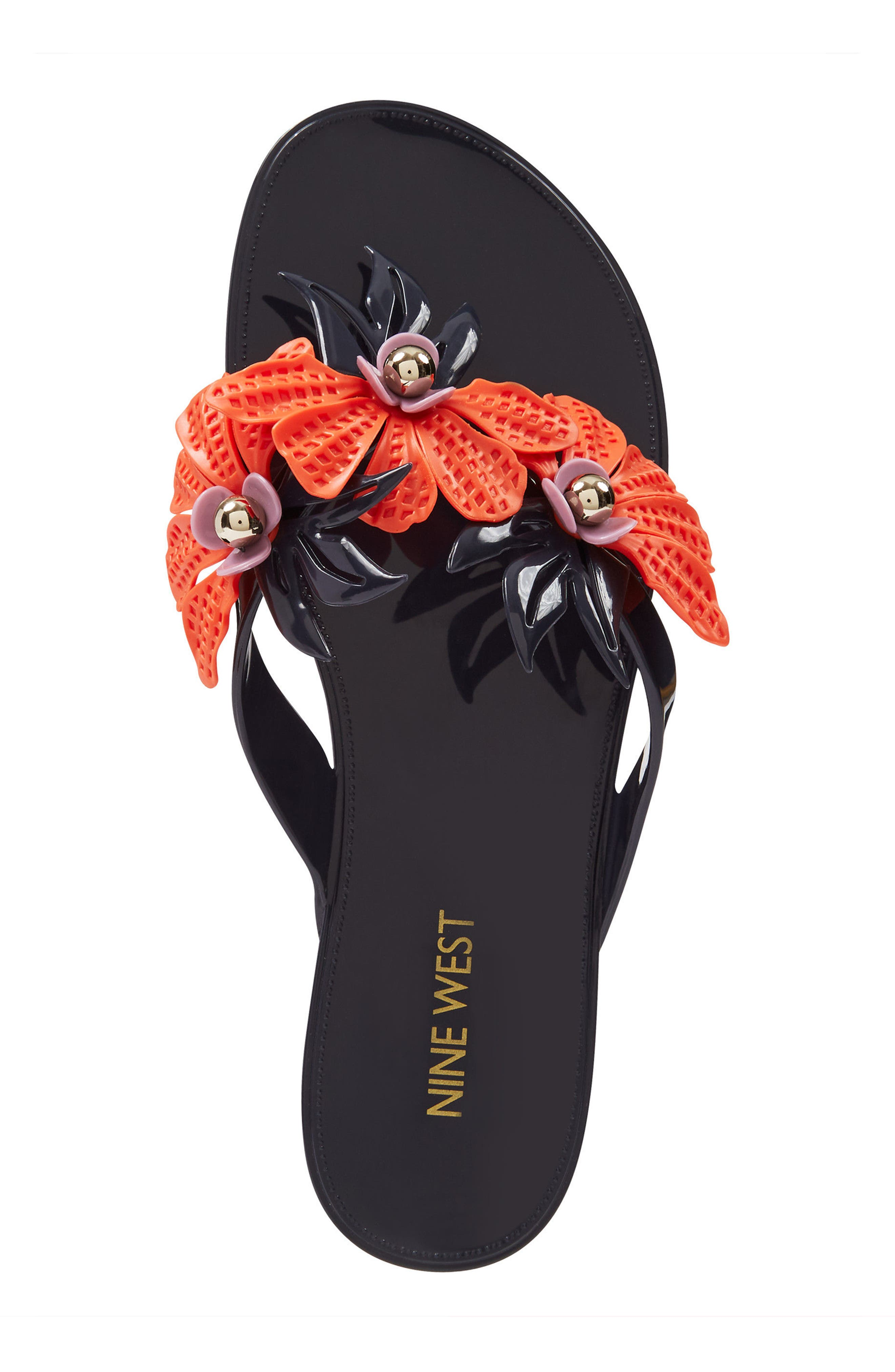 Macinee Thong Sandal,                             Alternate thumbnail 5, color,                             Navy Multi