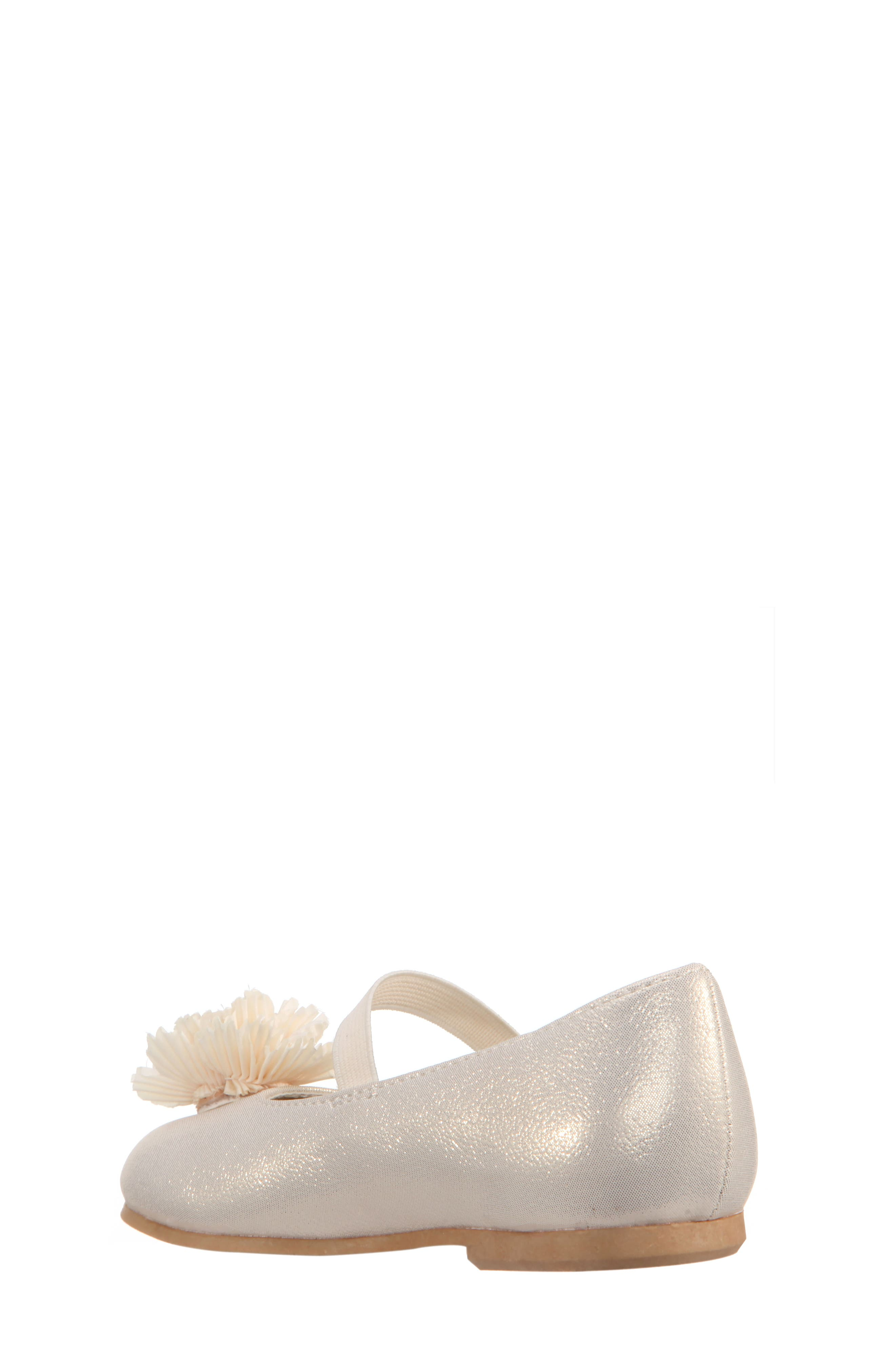 Jemma-T Bow Ballet Flat,                             Alternate thumbnail 2, color,                             Platino Metallic