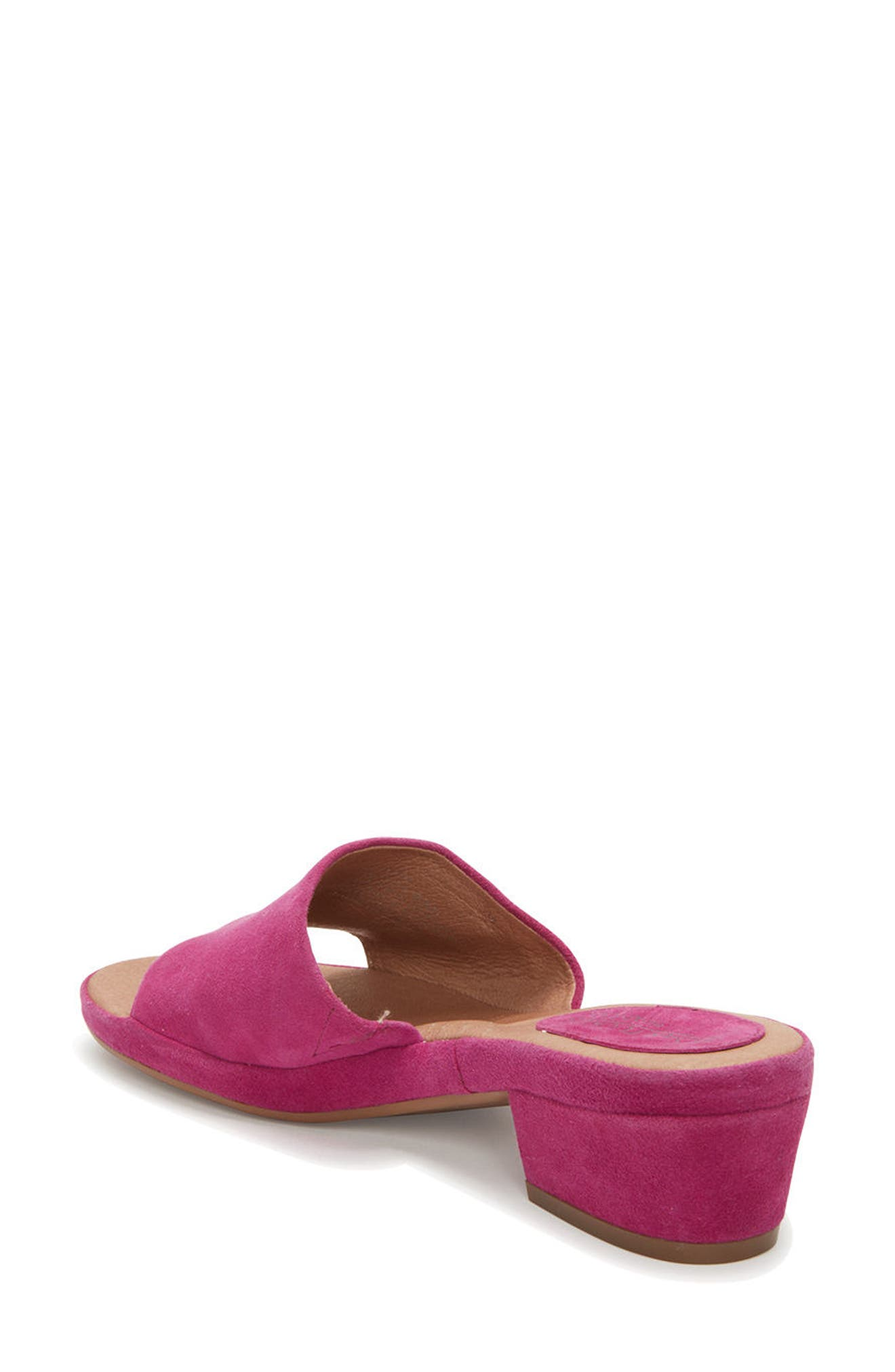 Adam Tucker Yolo Sandal,                             Alternate thumbnail 2, color,                             Fuchsia Suede