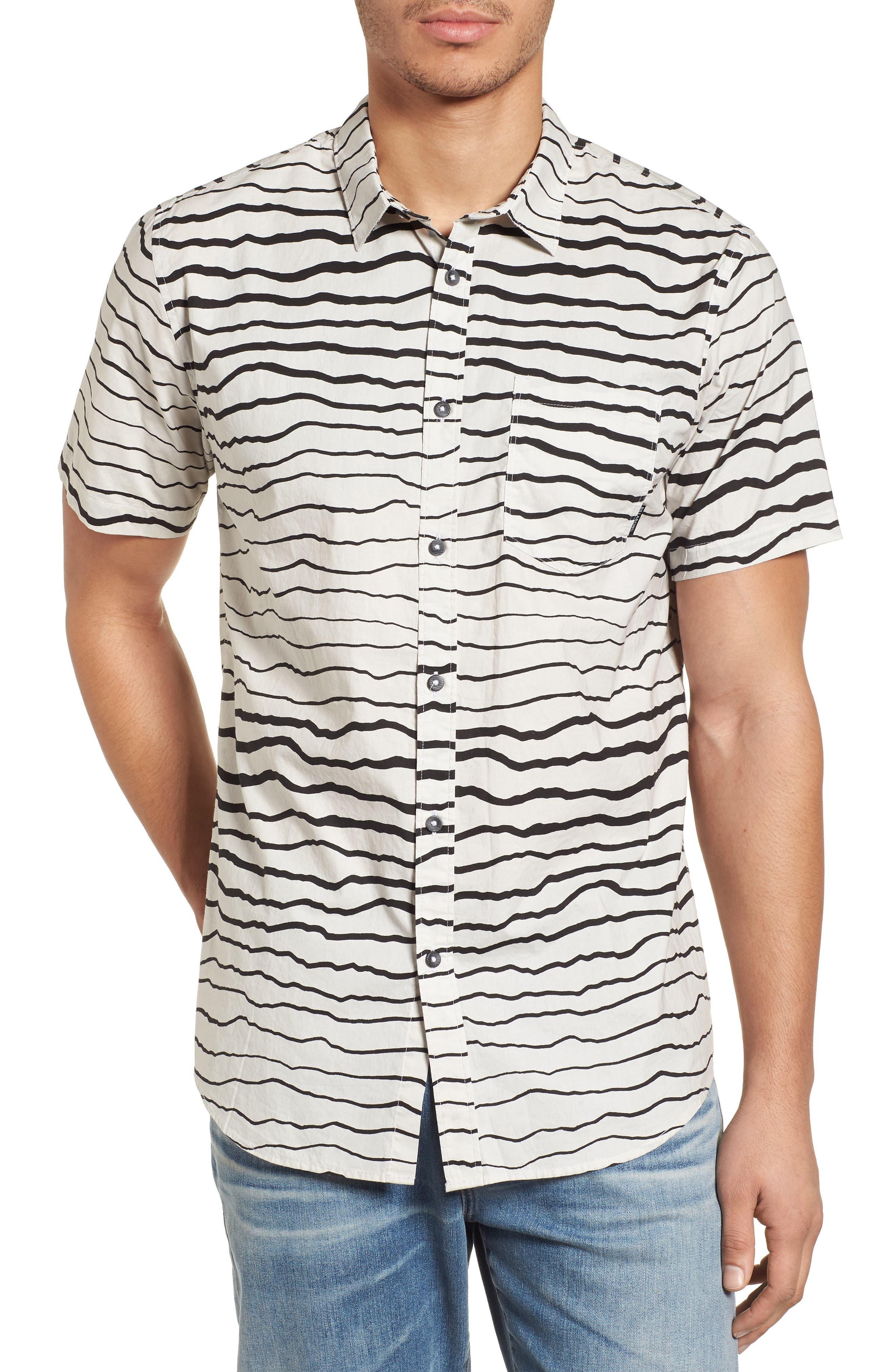 Sundays Lines Shirt,                         Main,                         color, Stone