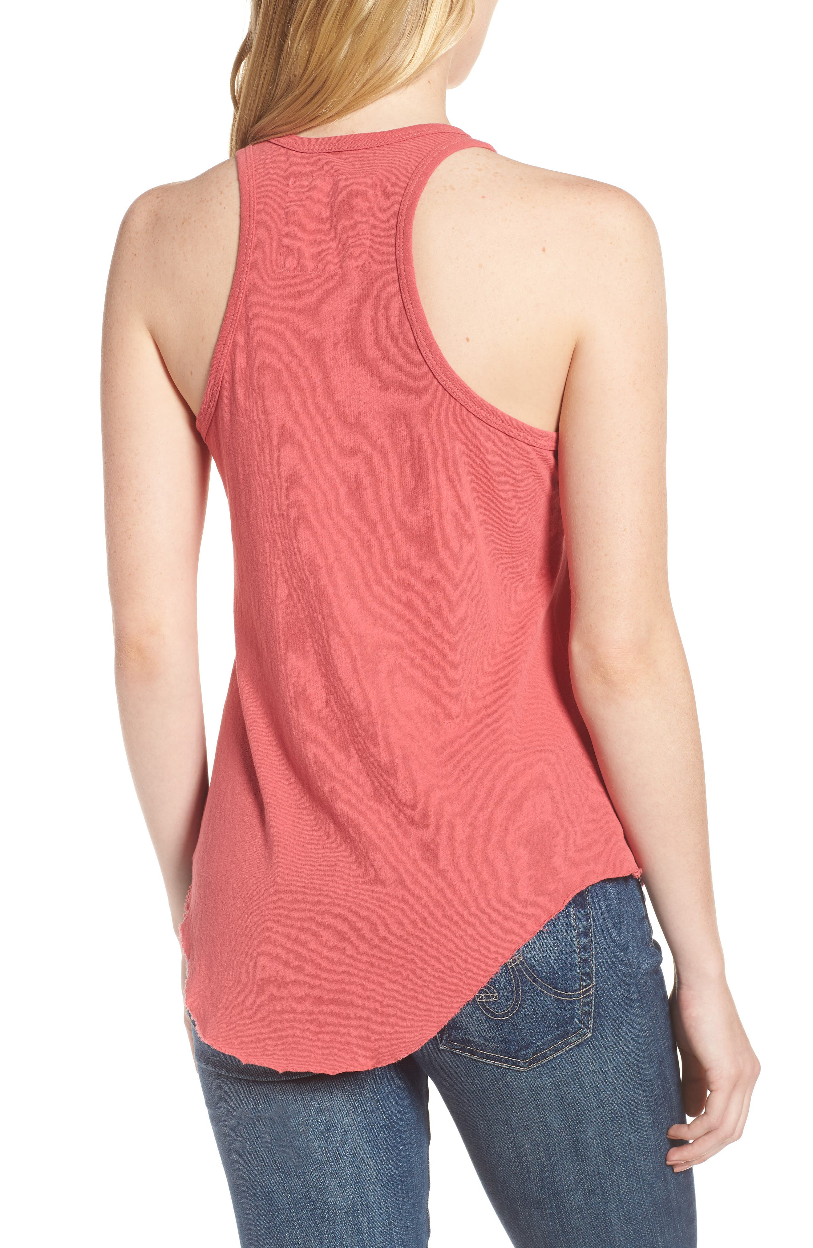 Layer Tank,                             Alternate thumbnail 2, color,                             Vintage Red