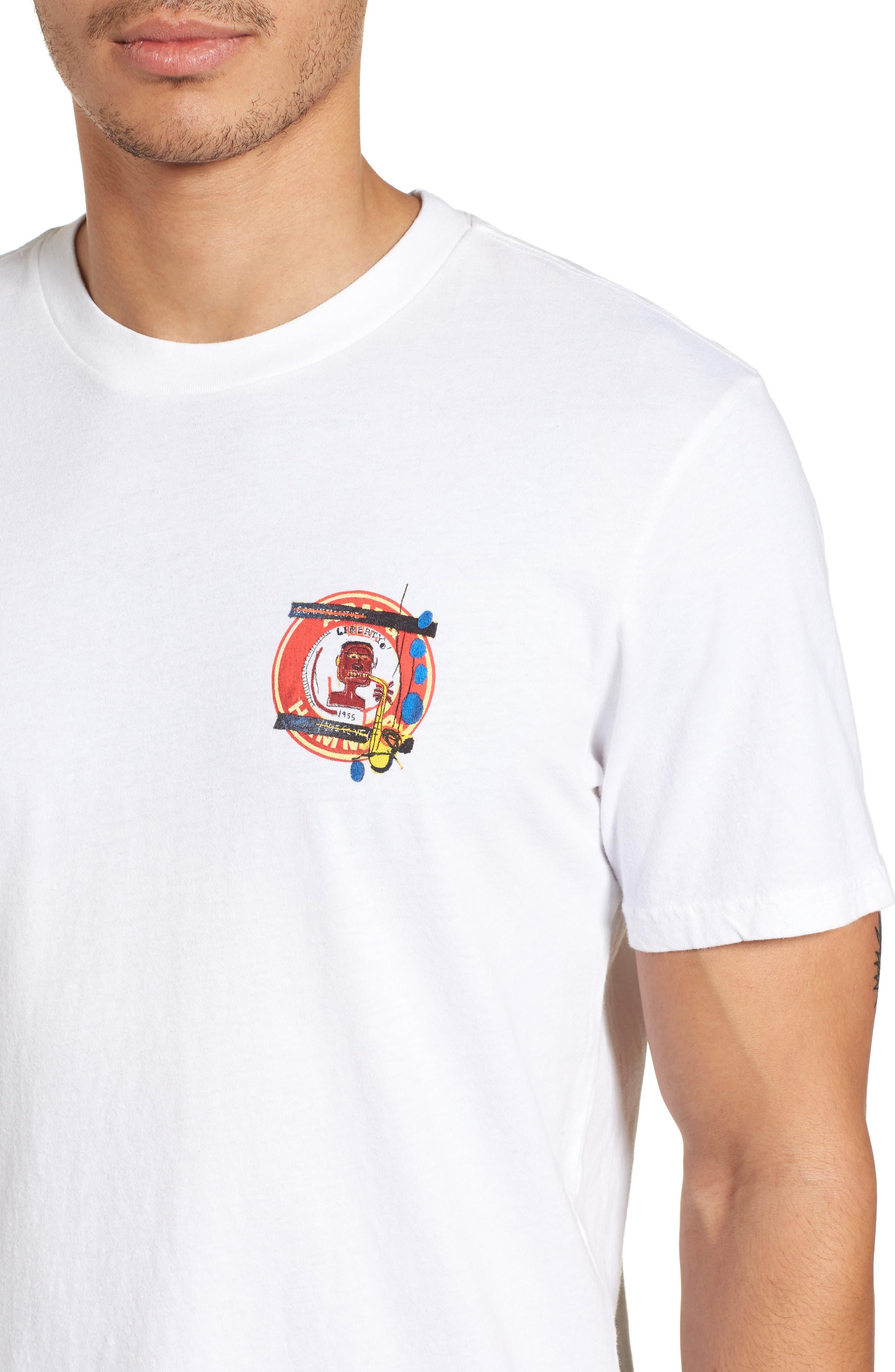 x Warhol Liberty T-Shirt,                             Alternate thumbnail 4, color,                             Vintage White