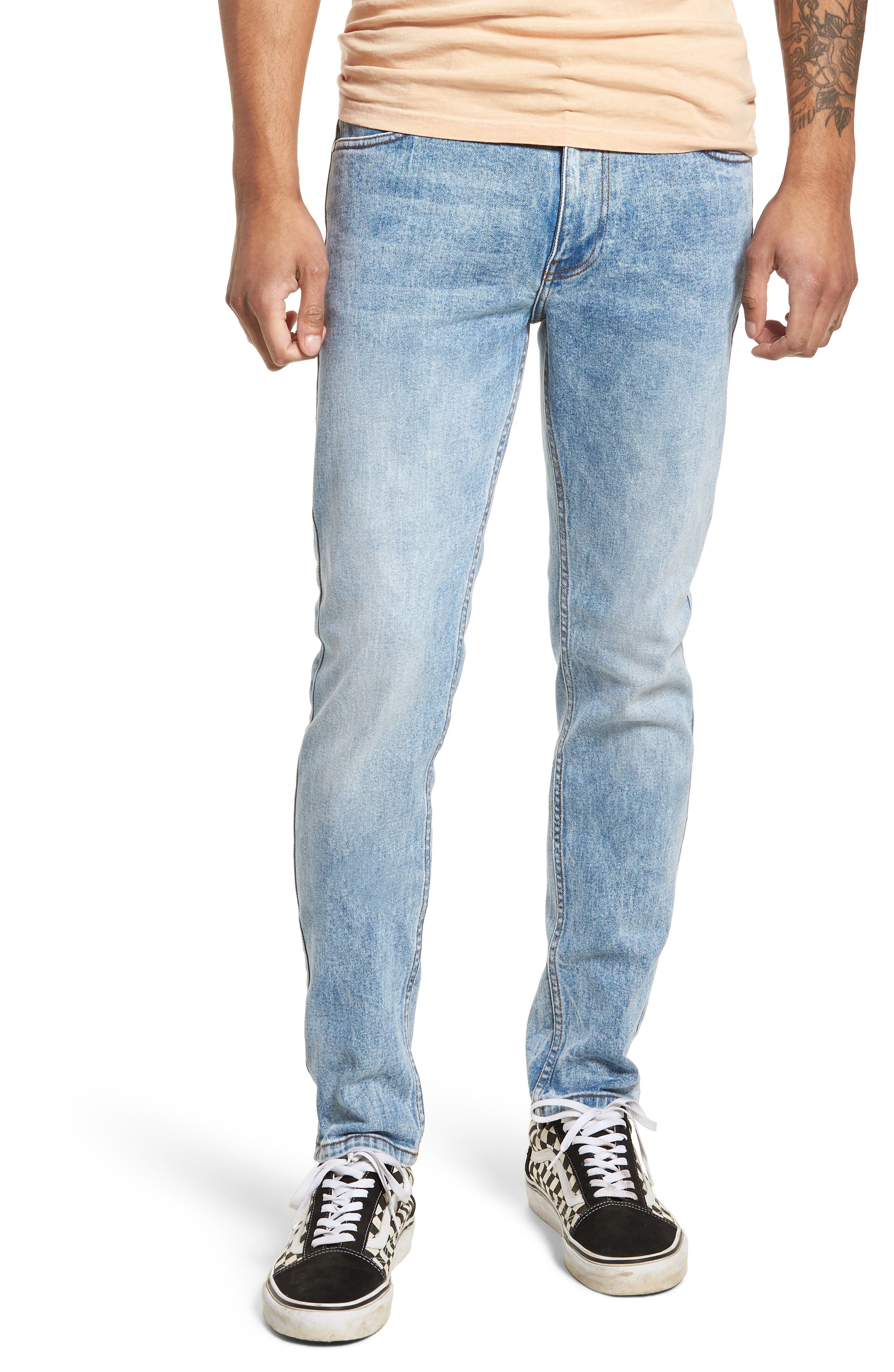 Clark Slim Straight Leg Jeans,                             Main thumbnail 1, color,                             Foggy Blue