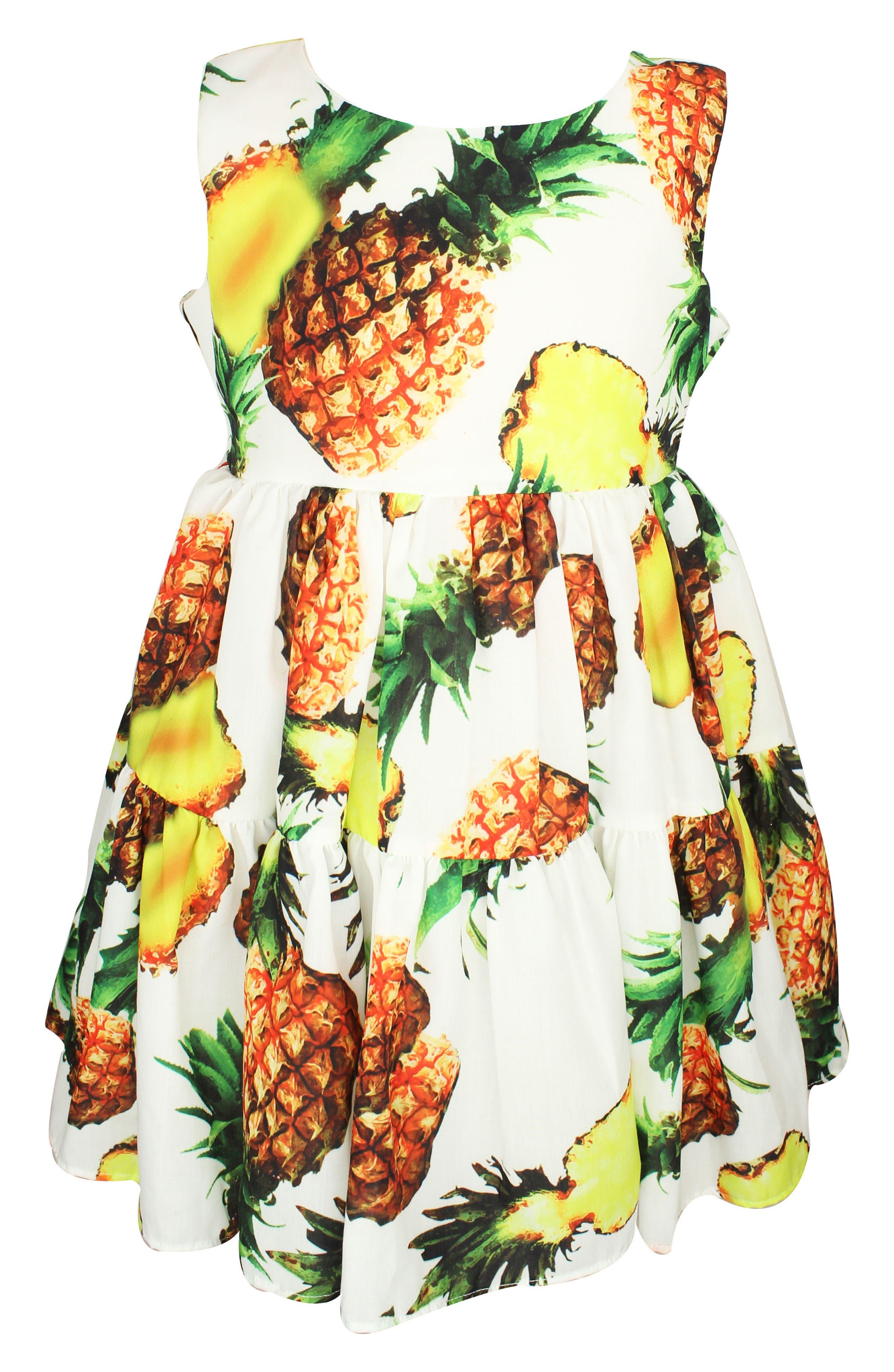 Pineapple Dress,                         Main,                         color, Yellow