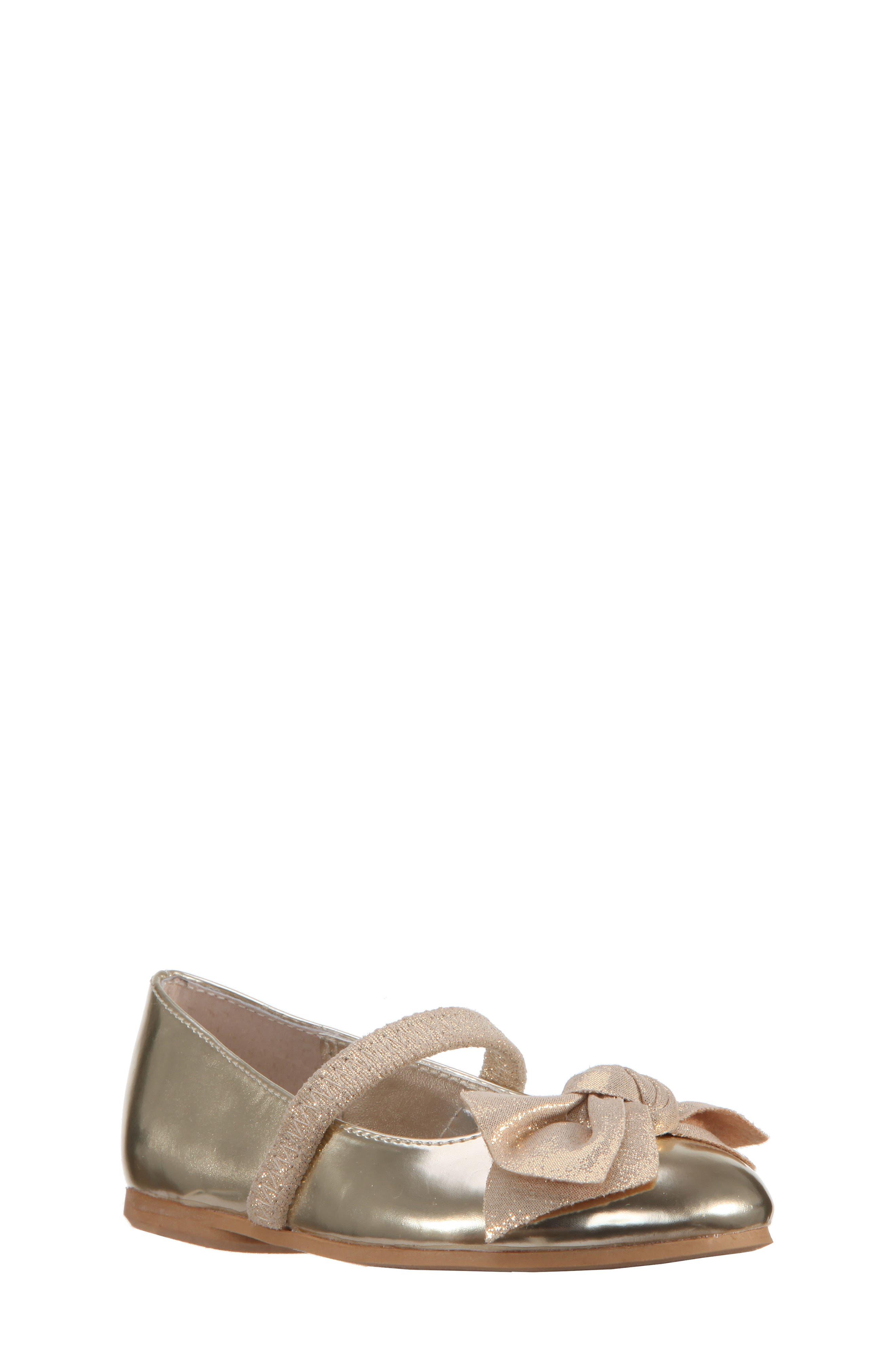Nina Kaytelyn-T Glitter Bow Ballet Flat (Walker & Toddler)