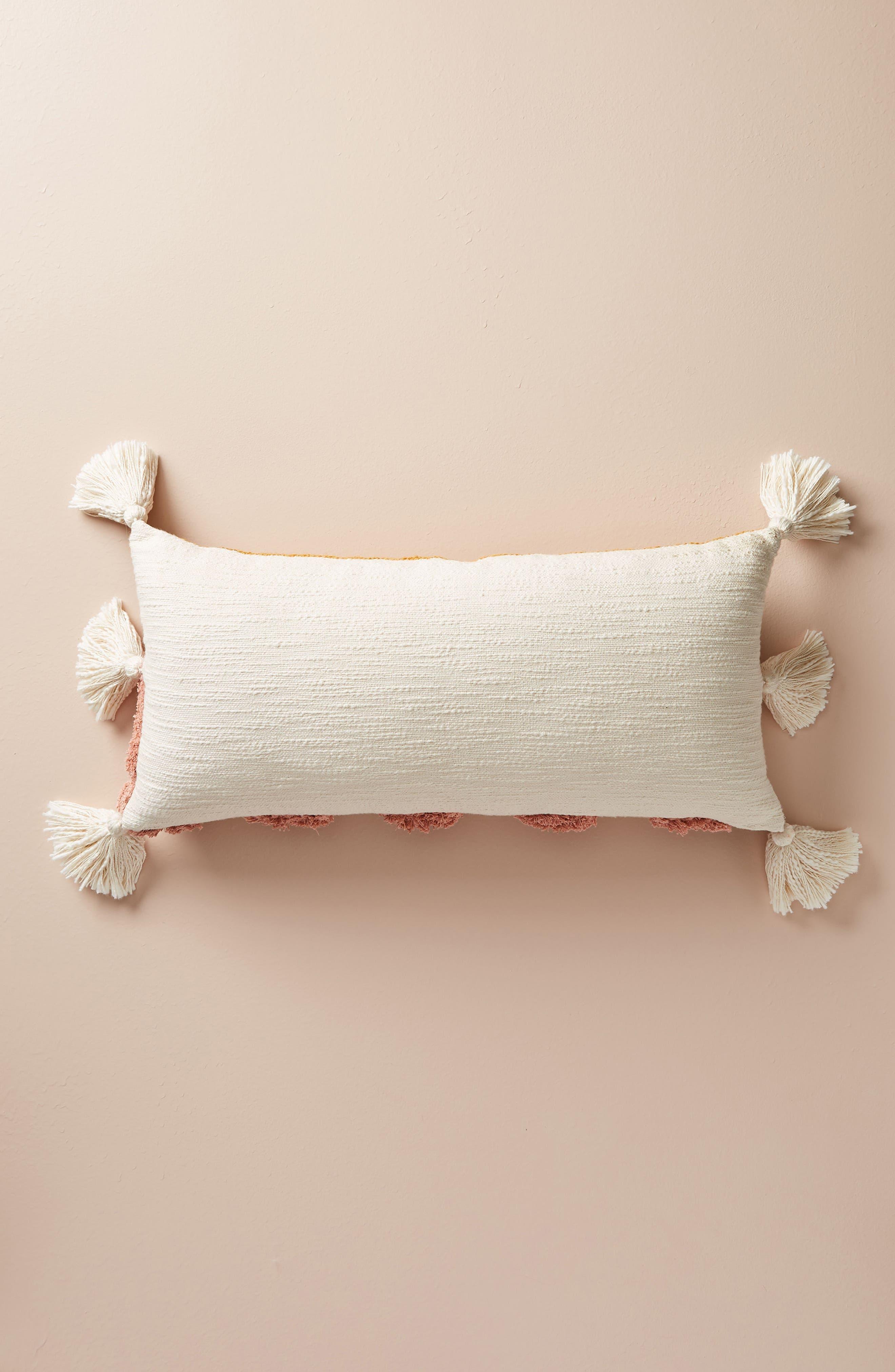 Rayas Lumbar Accent Pillow,                             Alternate thumbnail 2, color,                             Raspberry