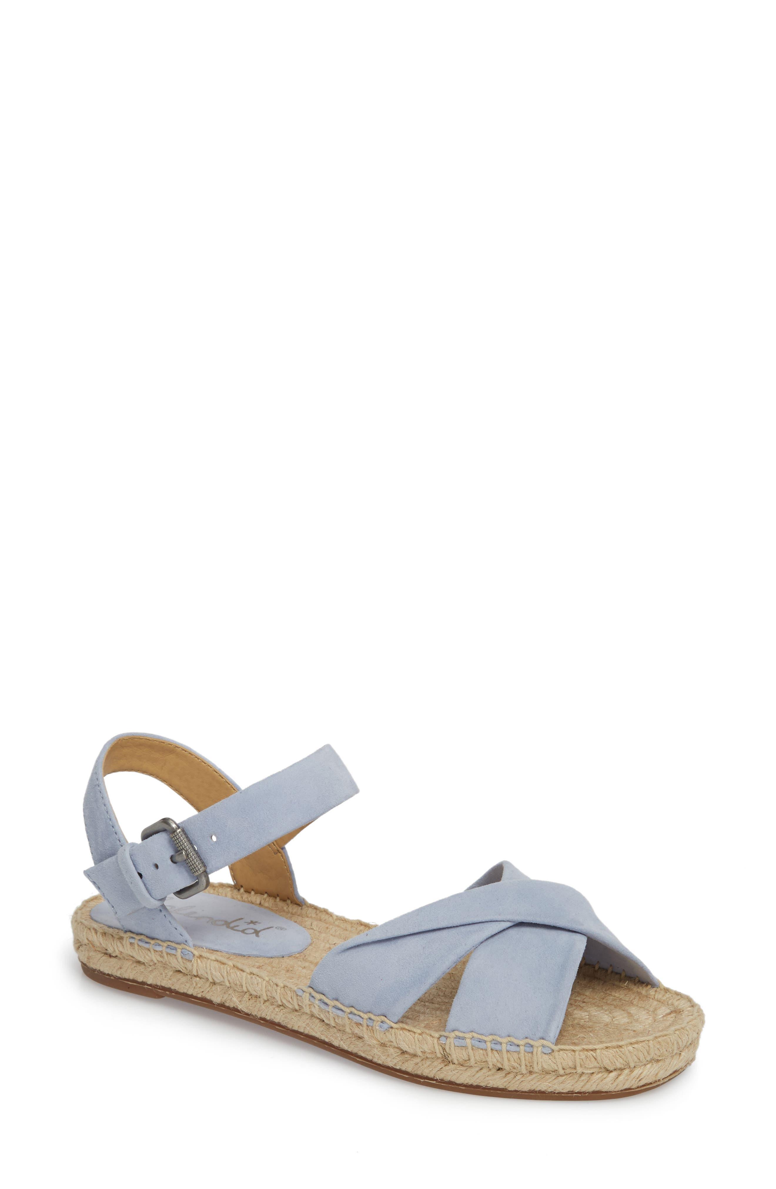 Fae Espadrille Sandal,                         Main,                         color, Lavender Suede