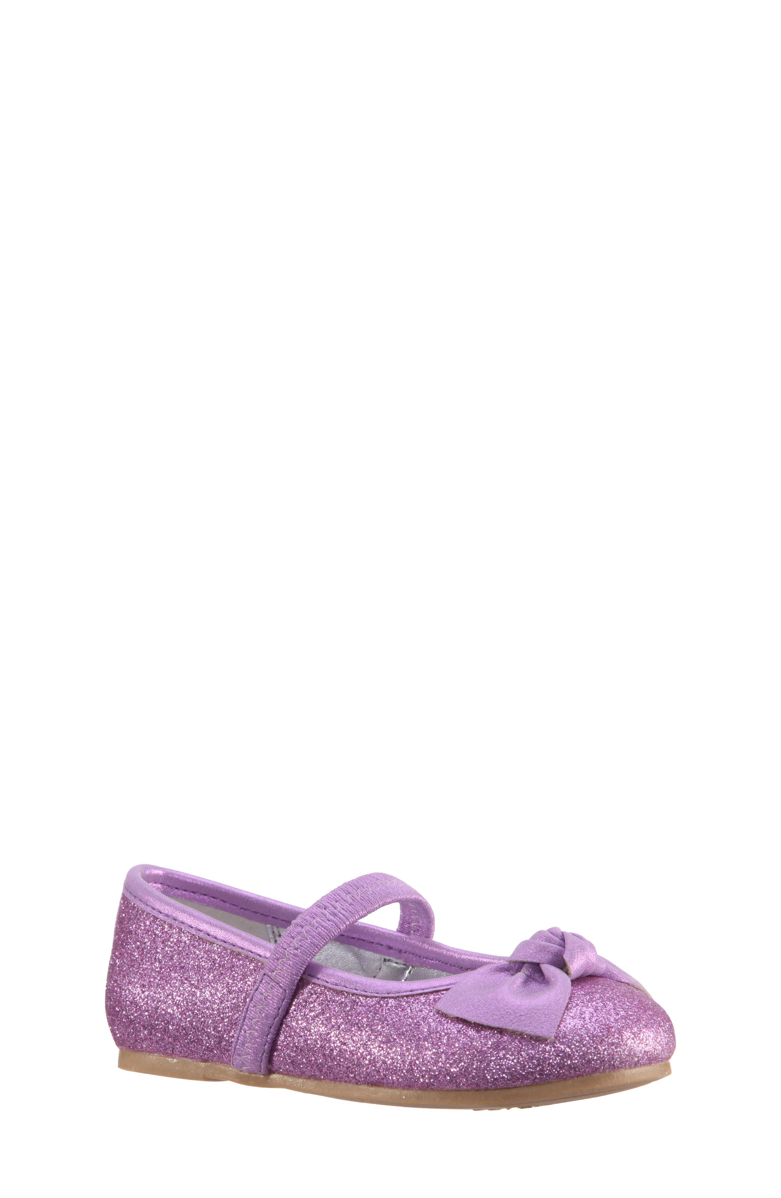 Nina Larabeth-T Glitter Bow Ballet Flat (Walker & Toddler)