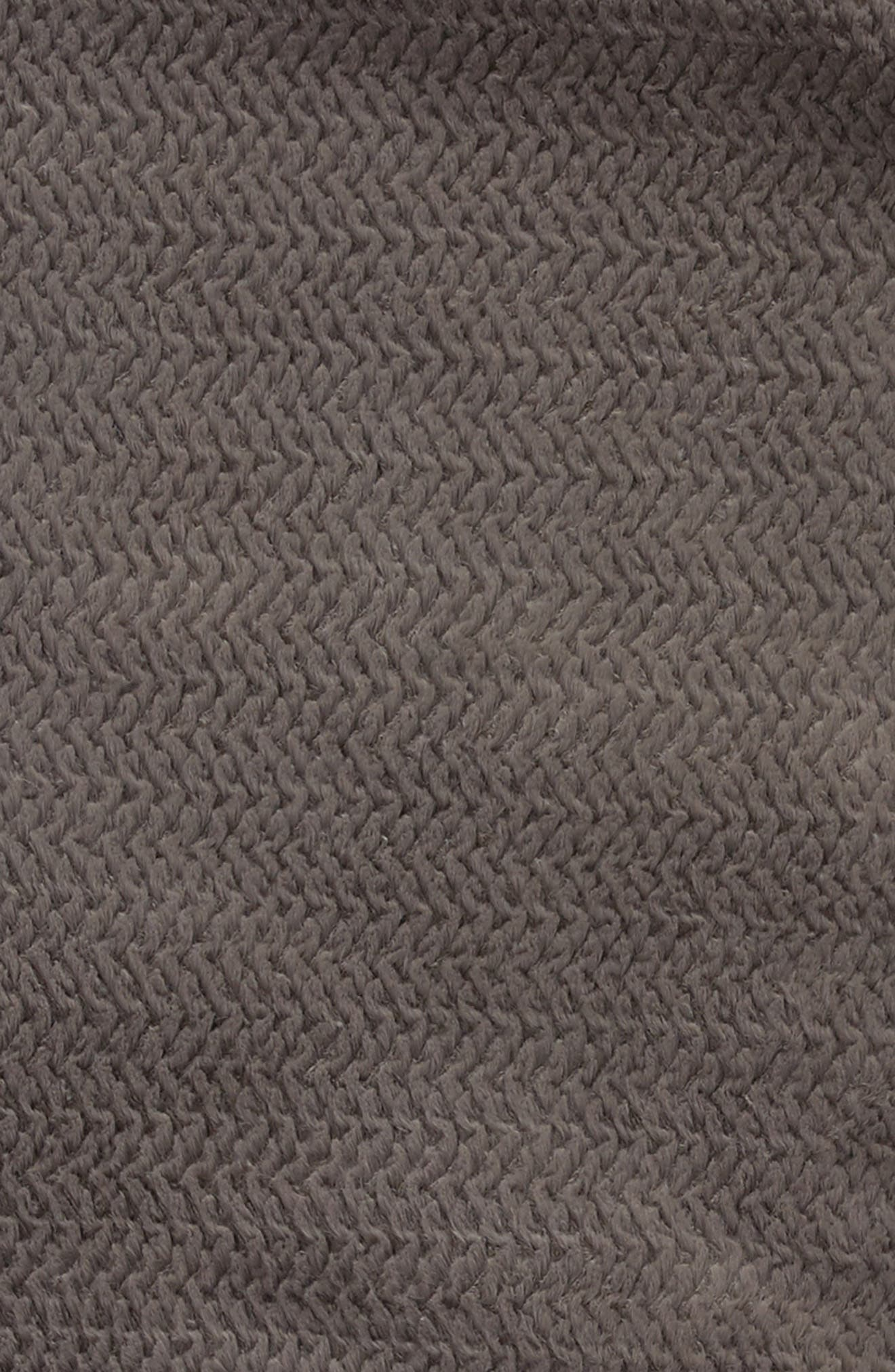 Luxe Twist Throw,                             Alternate thumbnail 3, color,                             Charcoal