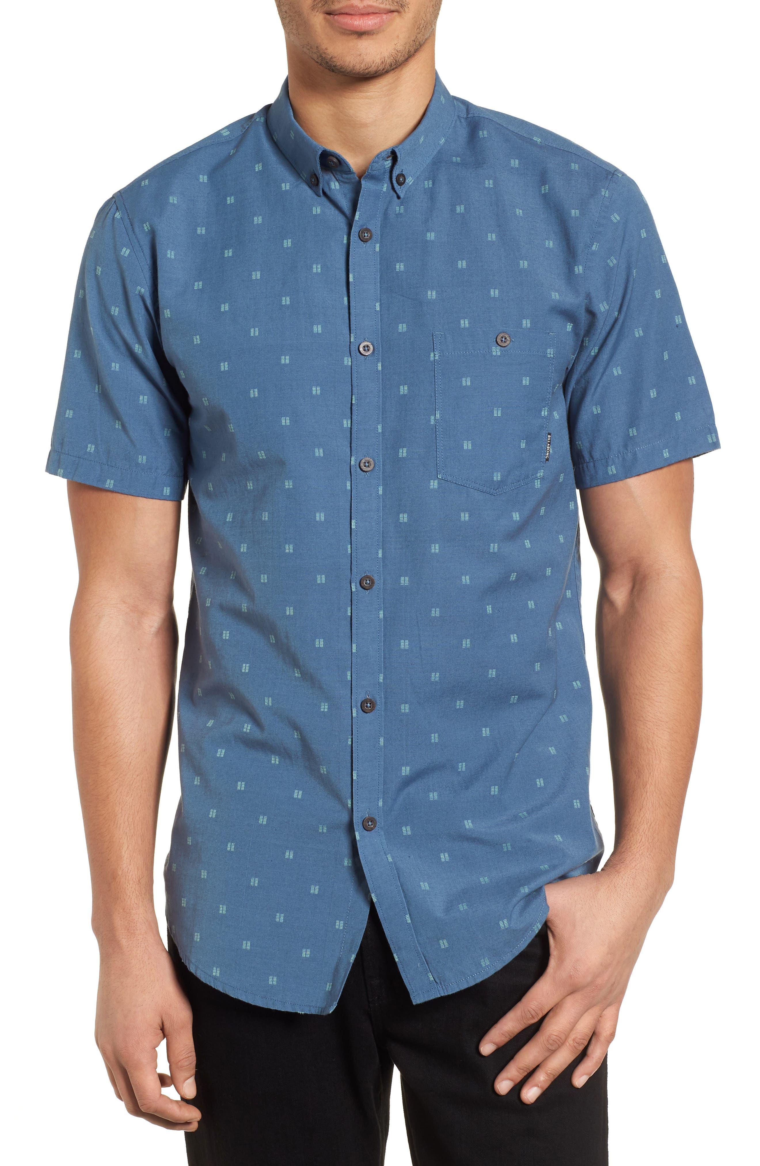 All Day Jacquard Shirt,                         Main,                         color, Deep Blue