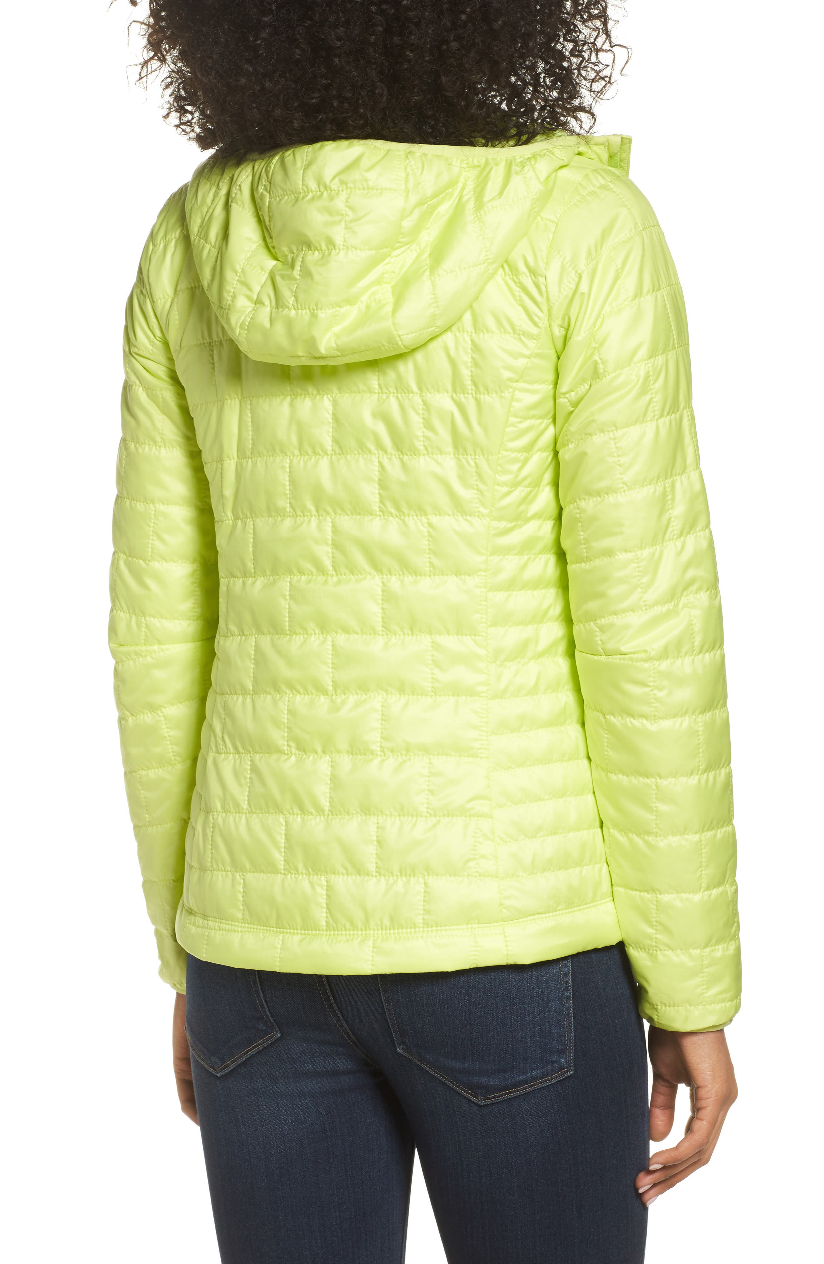 Nano Puff<sup>®</sup> Hooded Water Resistant Jacket,                             Alternate thumbnail 2, color,                             Celery Green
