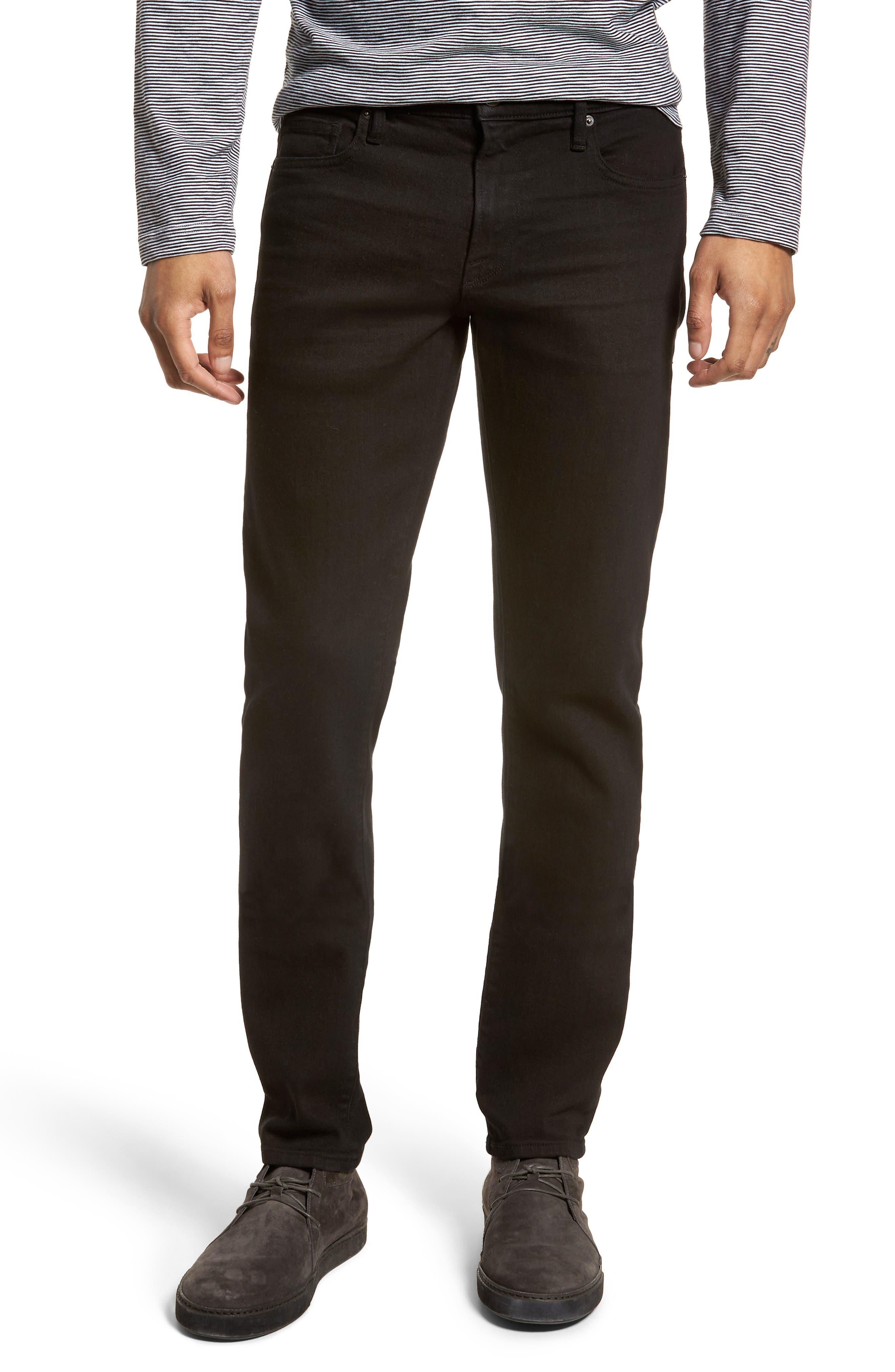 FRAME L'Homme Skinny Fit Jeans (Noir)