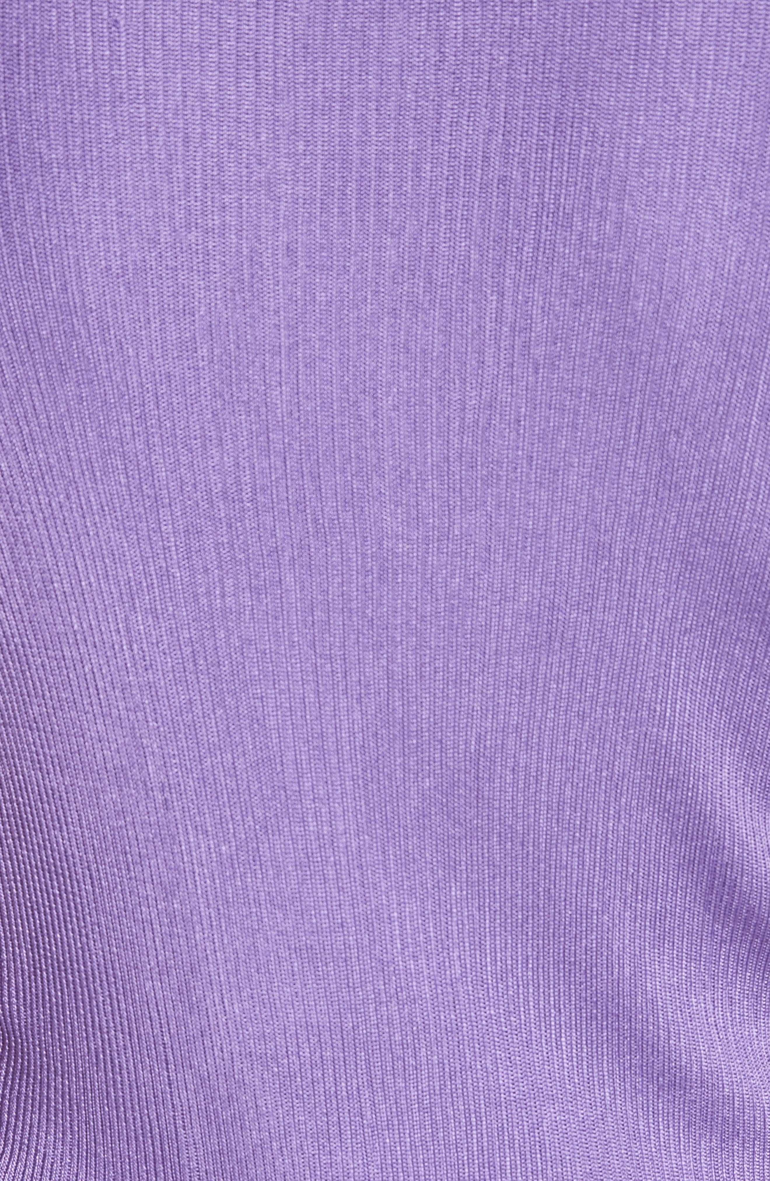 Ruched Side Layered Rib Knit Dress,                             Alternate thumbnail 6, color,                             Lilas
