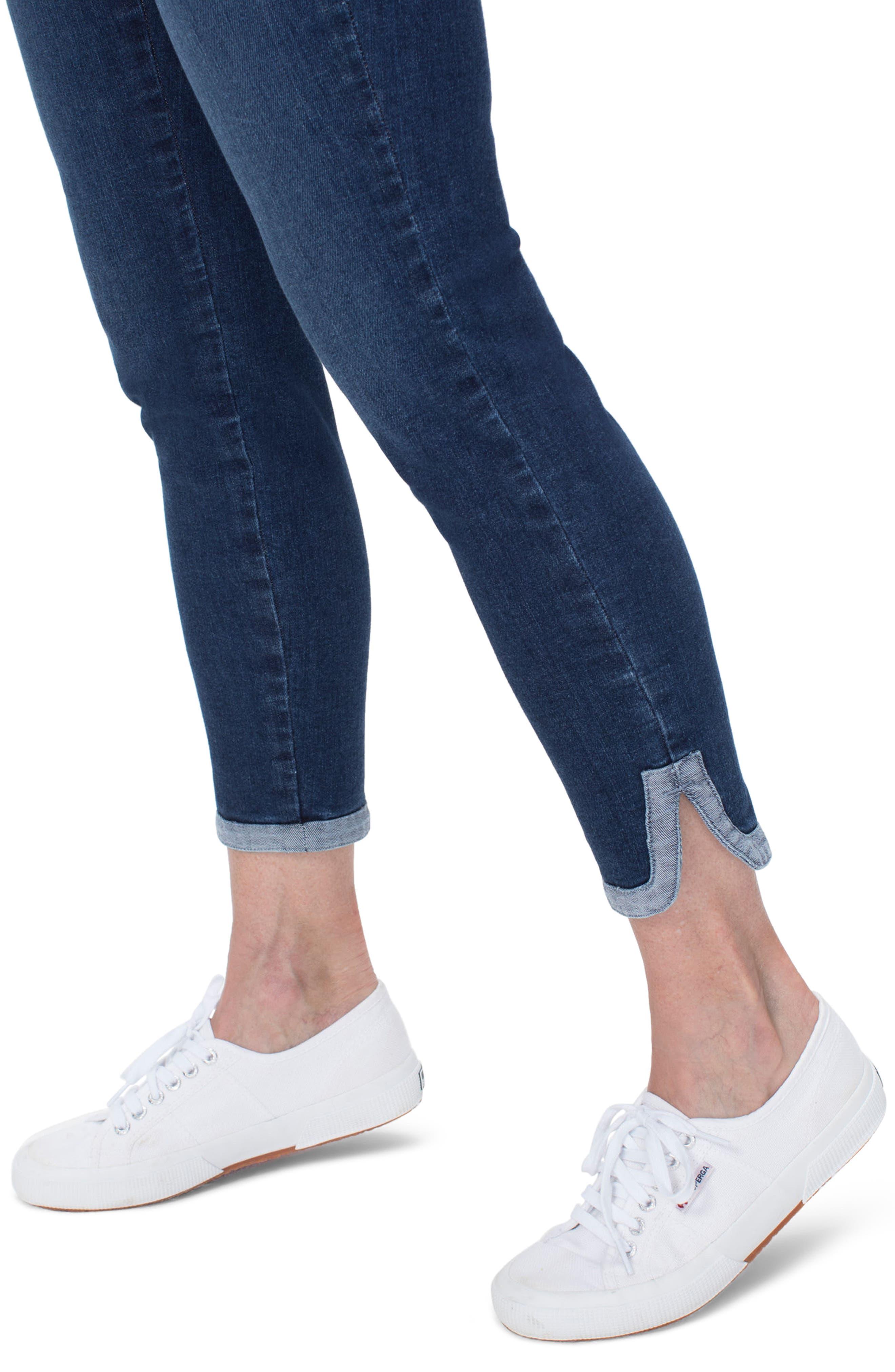 Ami Dolphin Hem Ankle Skinny Jeans,                             Alternate thumbnail 3, color,                             Cooper
