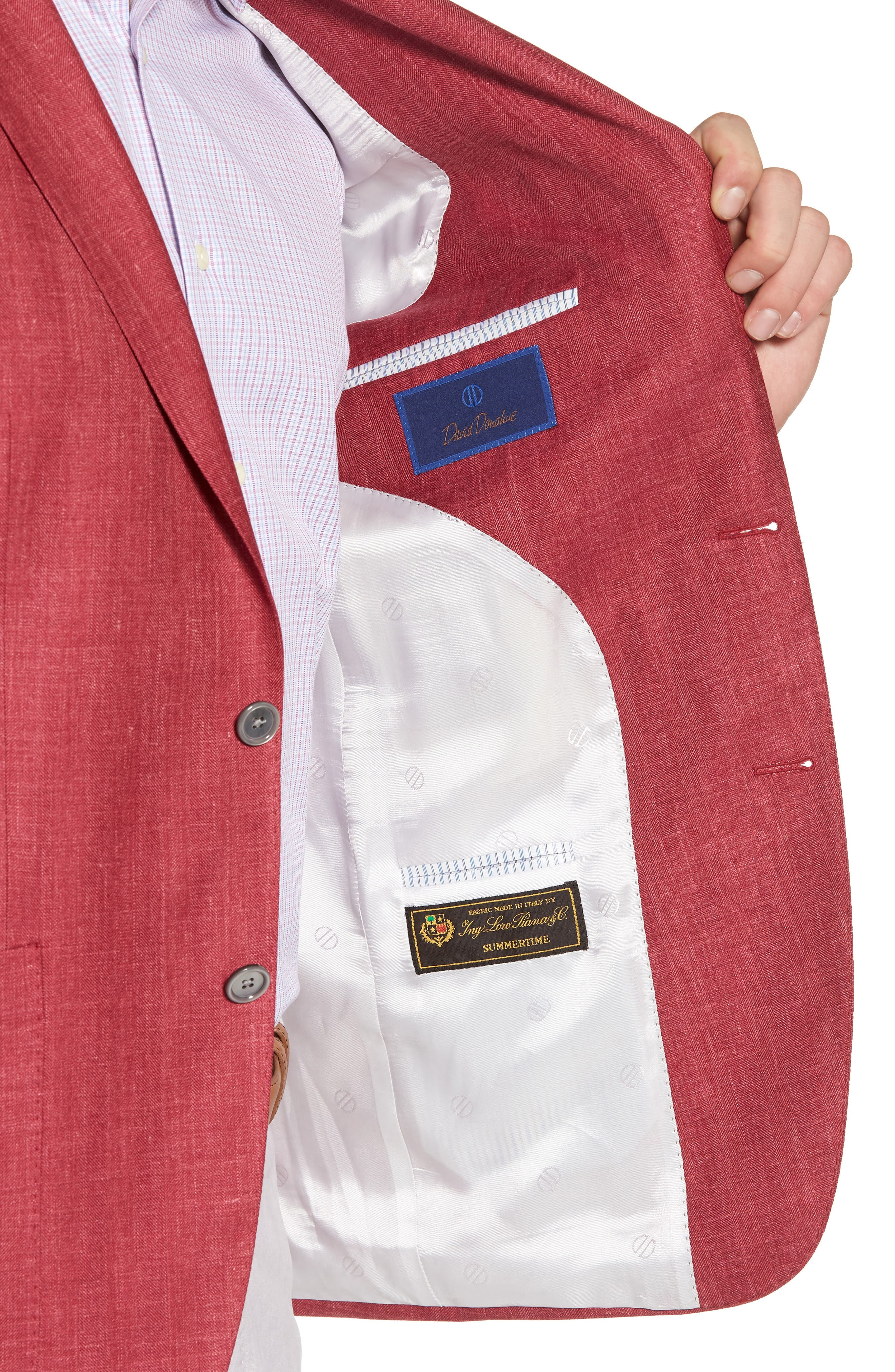 Aiden Classic Fit Wool Blend Blazer,                             Alternate thumbnail 4, color,                             Red