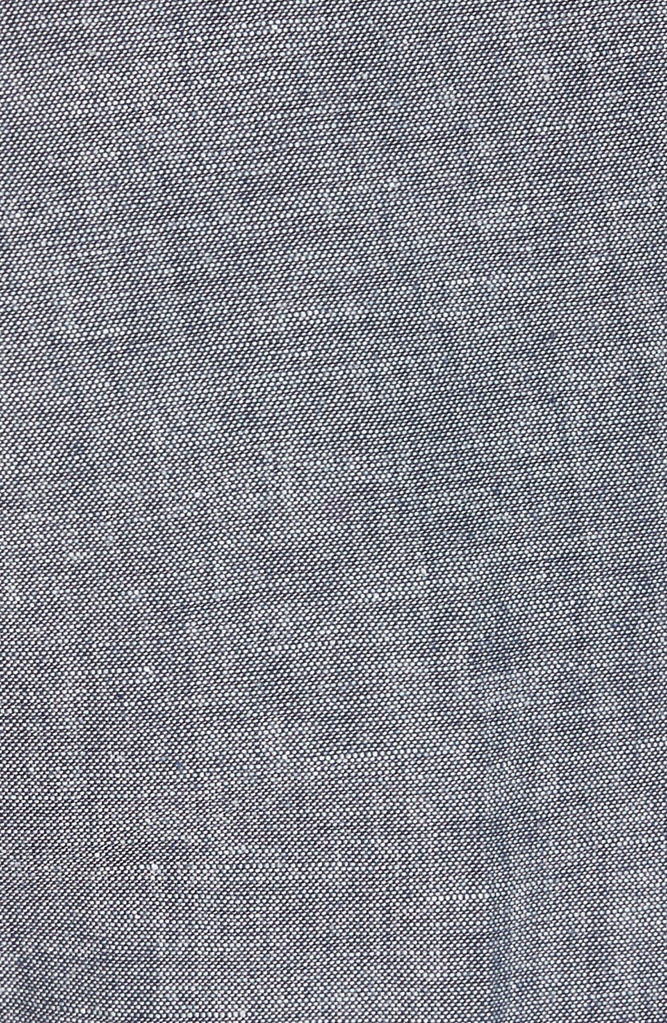 Ludlow Trim Fit Cotton & Linen Suit Pants,                             Alternate thumbnail 5, color,                             Deep Water Blue