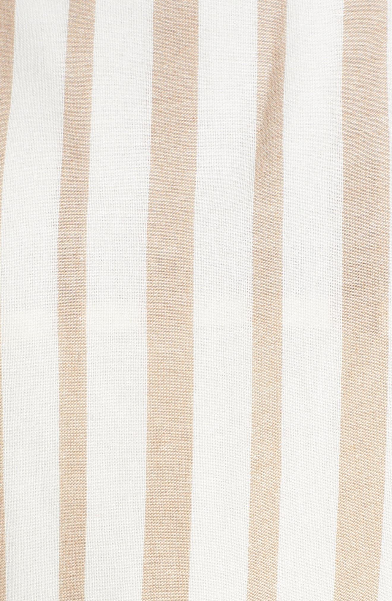 Chriselle x J.O.A. Wide Leg Jumpsuit,                             Alternate thumbnail 7, color,                             Sand Stripe