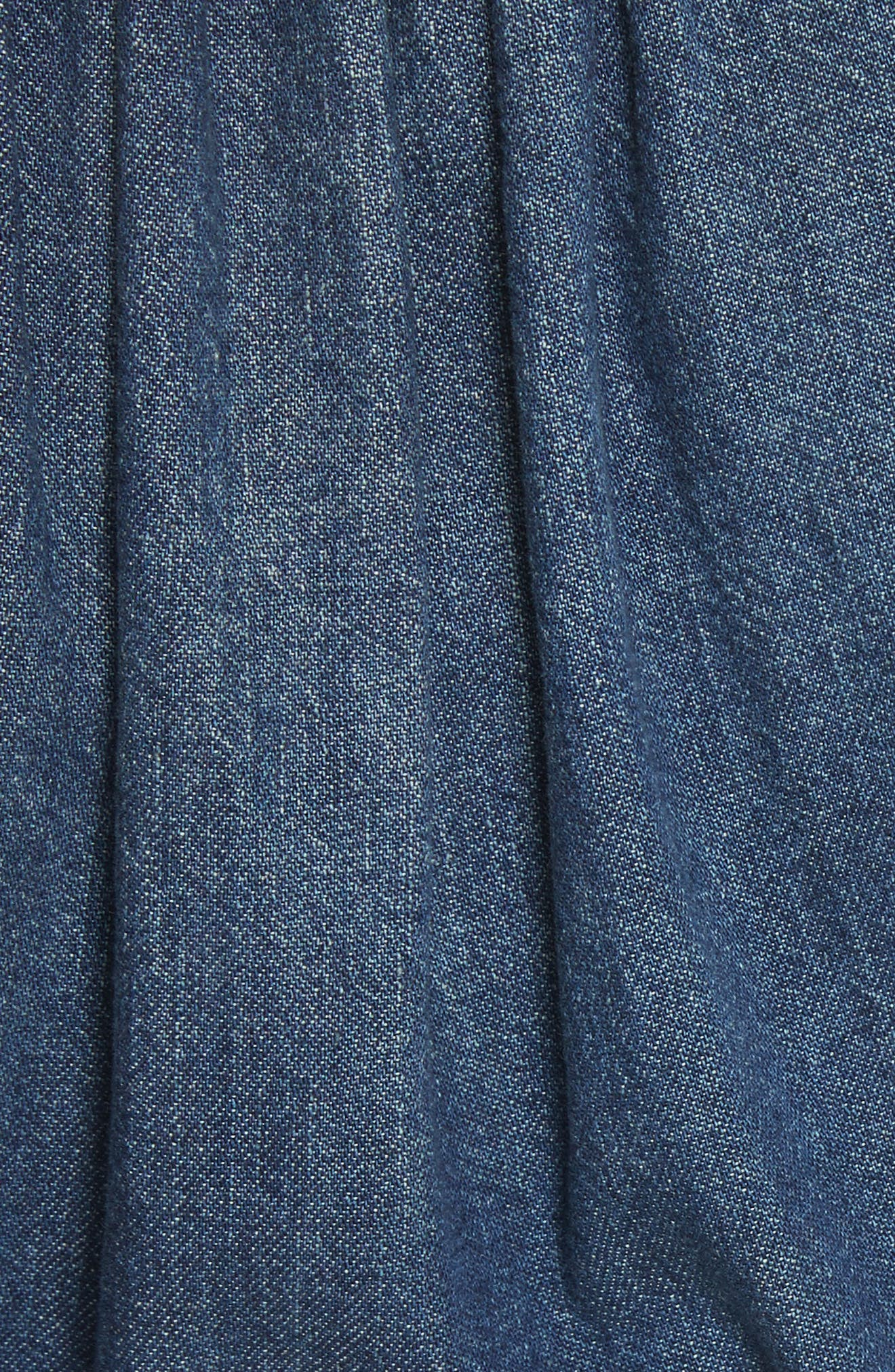 Denim Wrap Dress,                             Alternate thumbnail 5, color,                             Avignon Wash