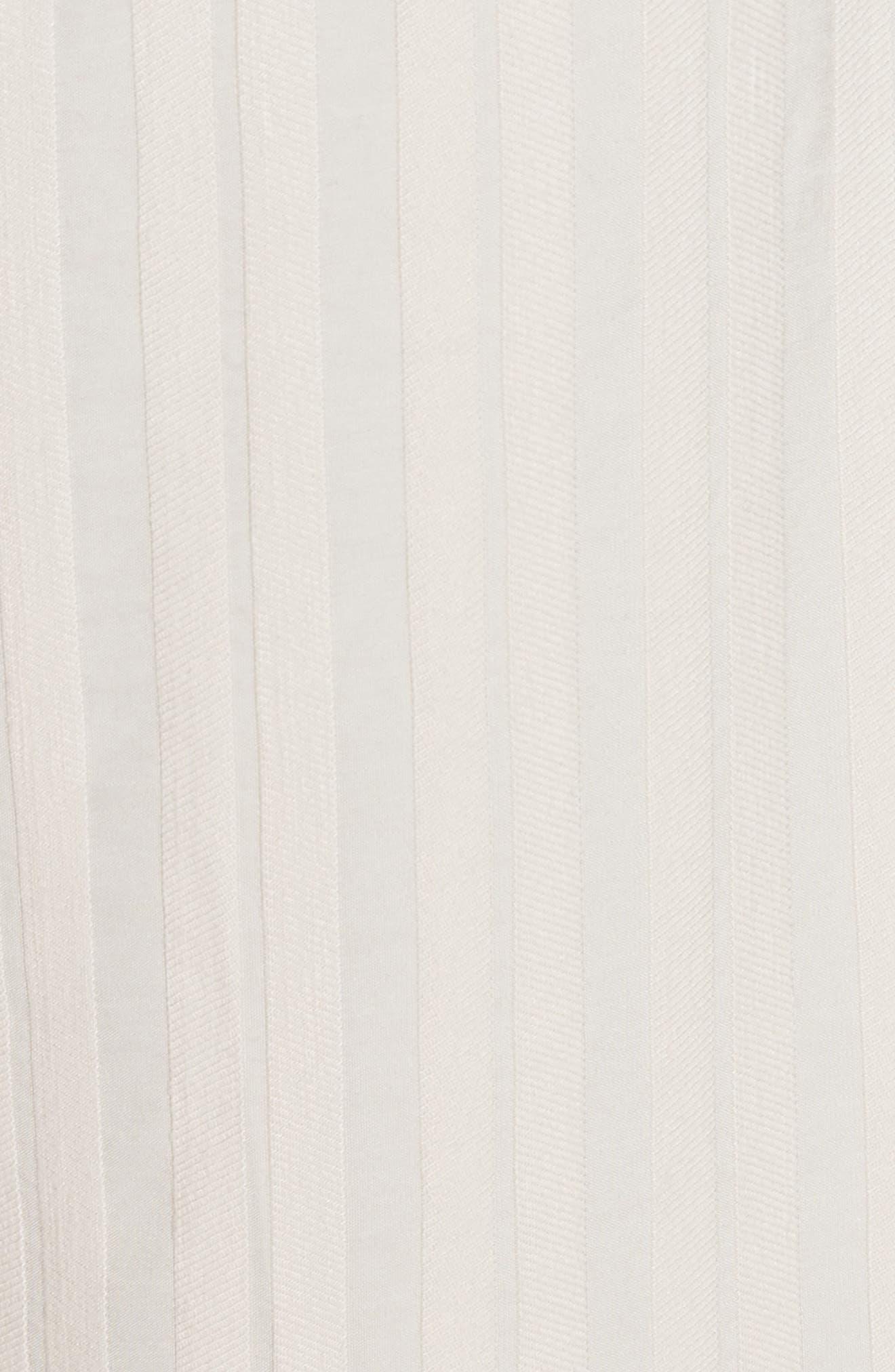 Textured Stripe Crop Pants,                             Alternate thumbnail 5, color,                             Creme Brulee