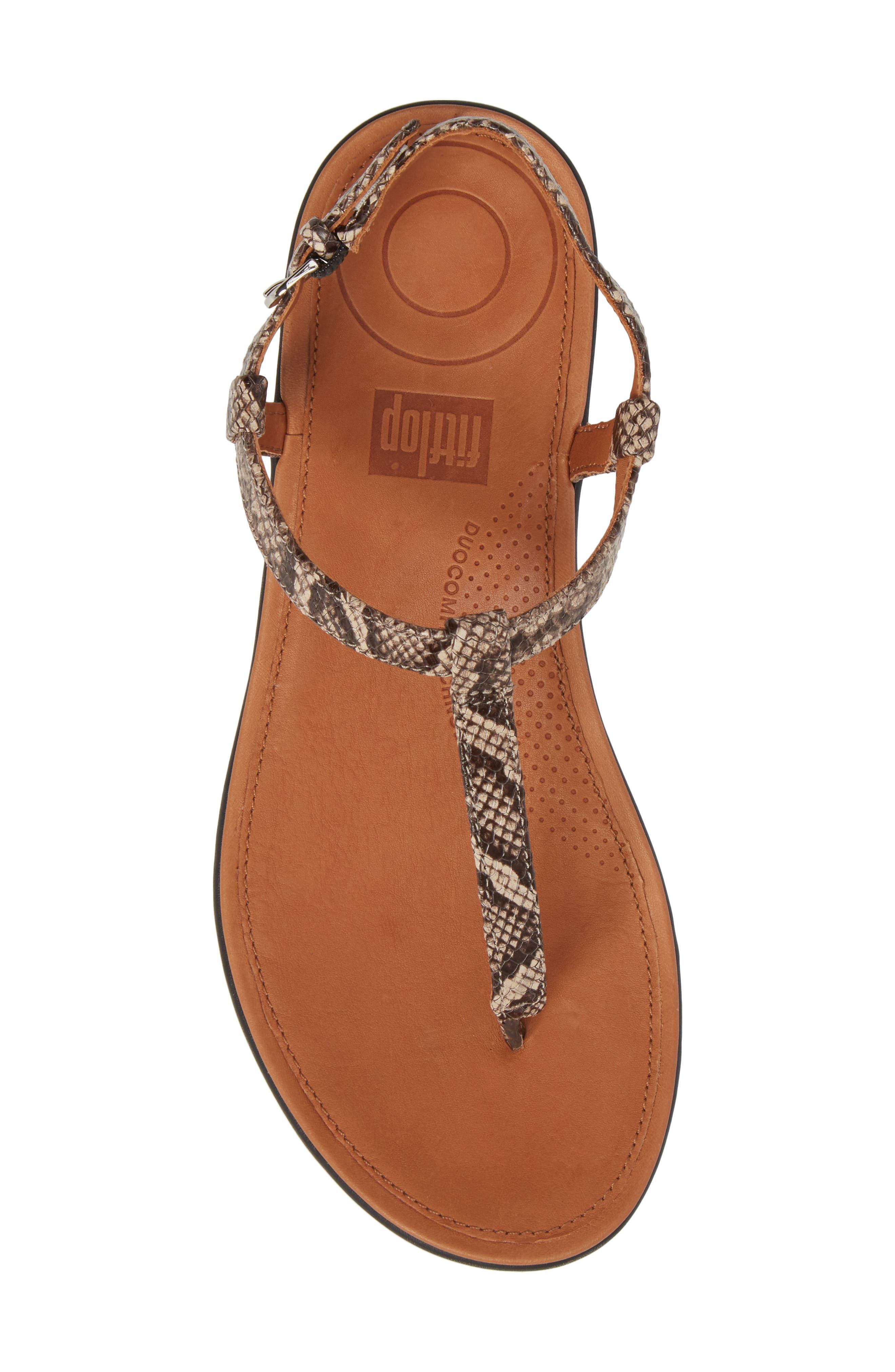 Tia Sandal,                             Alternate thumbnail 5, color,                             Taupe Snake Leather