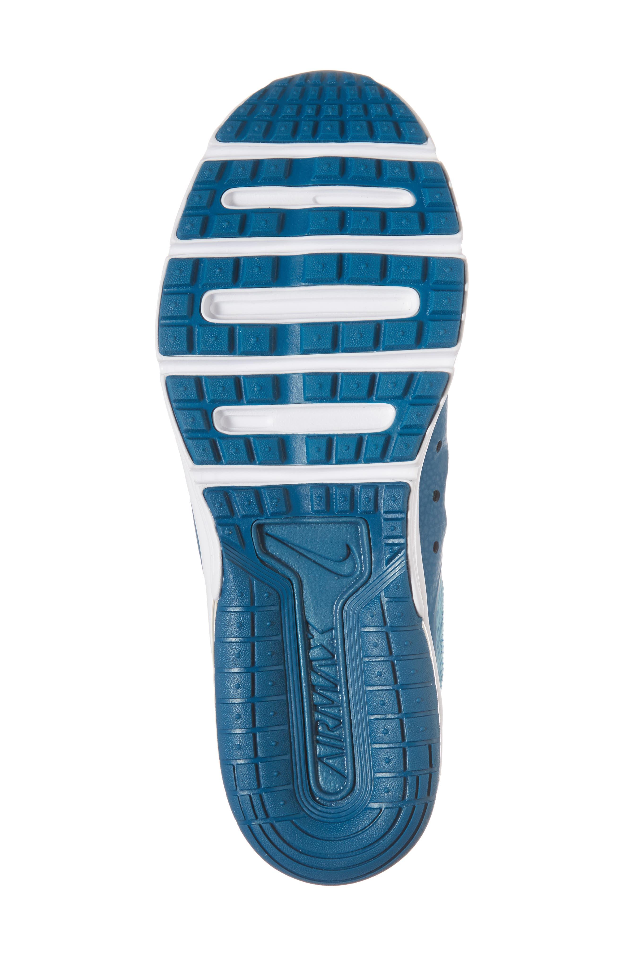 Air Max Sequent 3 GS Running Shoe,                             Alternate thumbnail 7, color,                             Green/ Igloo/ Bleached Aqua