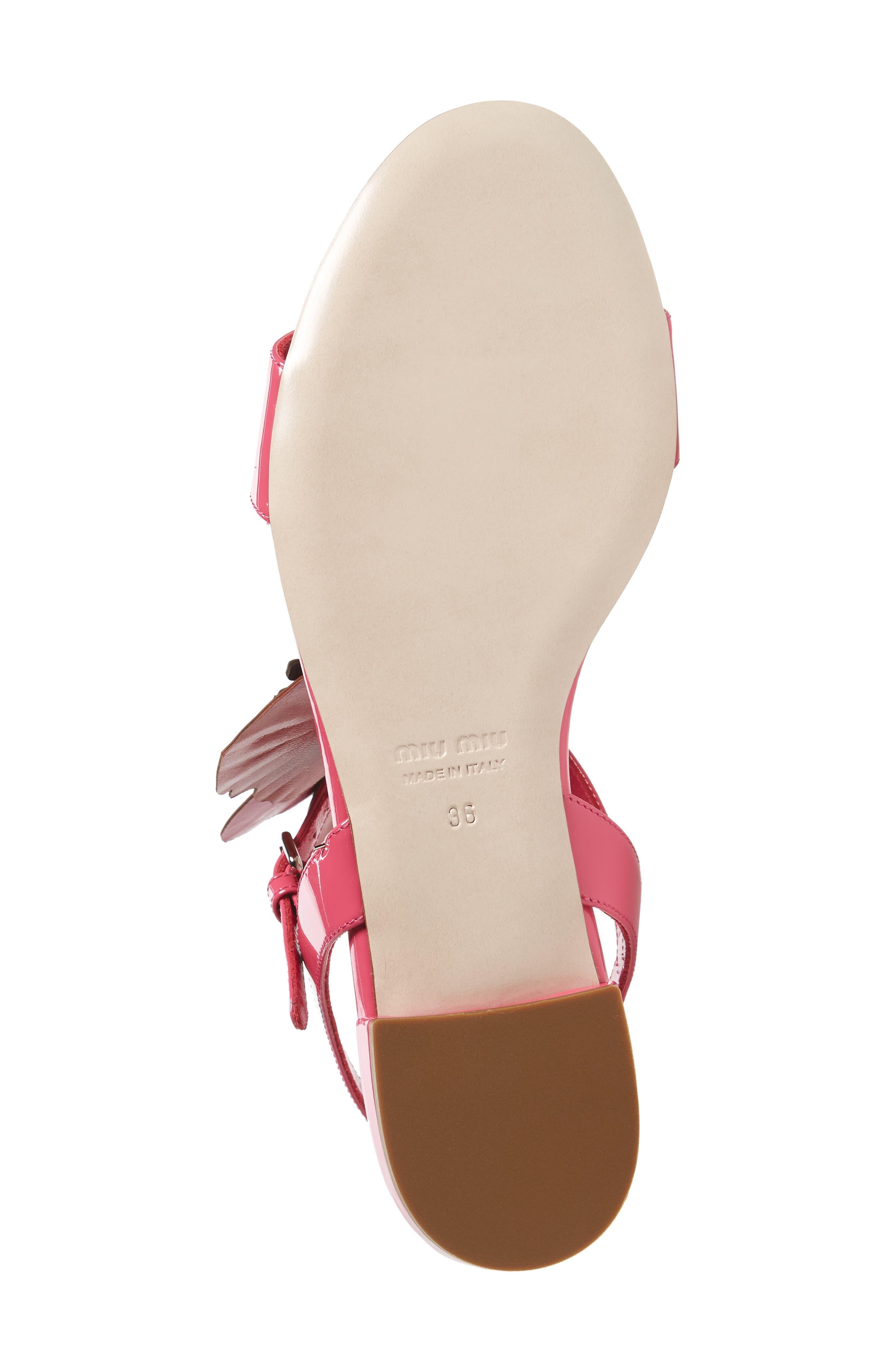 Floral Embellished Strappy Sandal,                             Alternate thumbnail 6, color,                             Pink