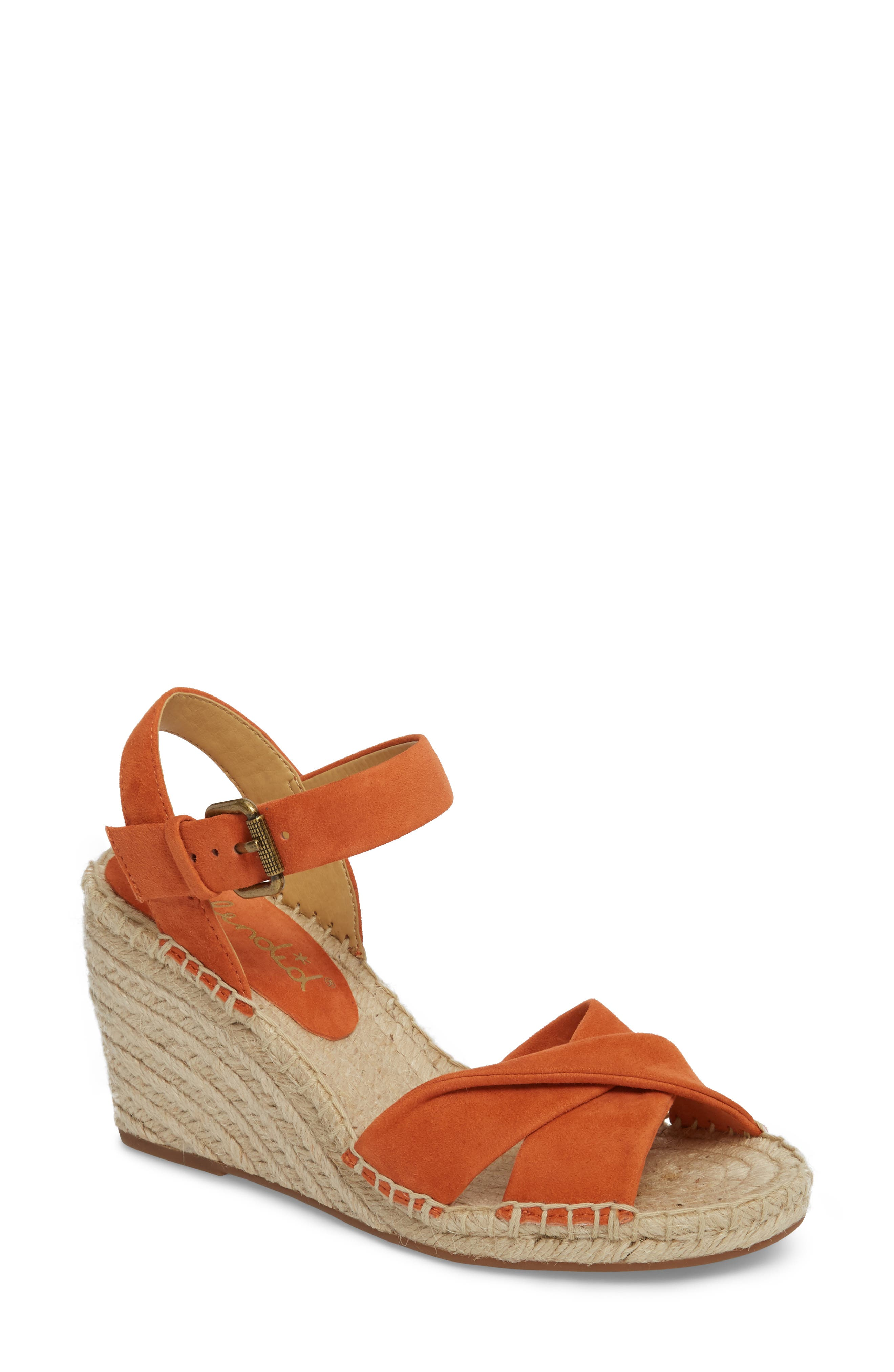 5bdcd41d02dc Splendid Fairfax Espadrille Wedge Sandal In Coral Suede