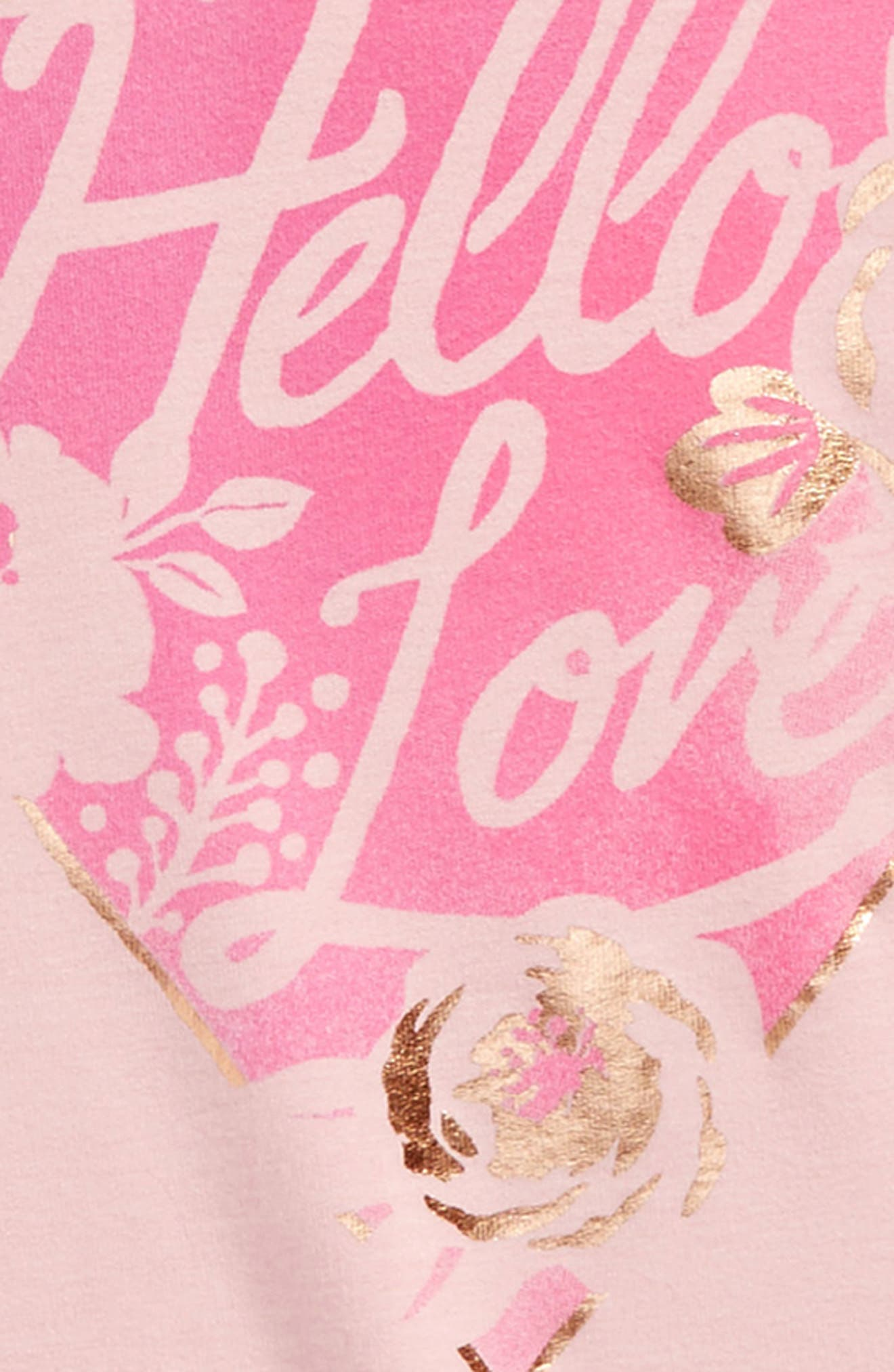 Hello Love Graphic Tee,                             Alternate thumbnail 2, color,                             Pink