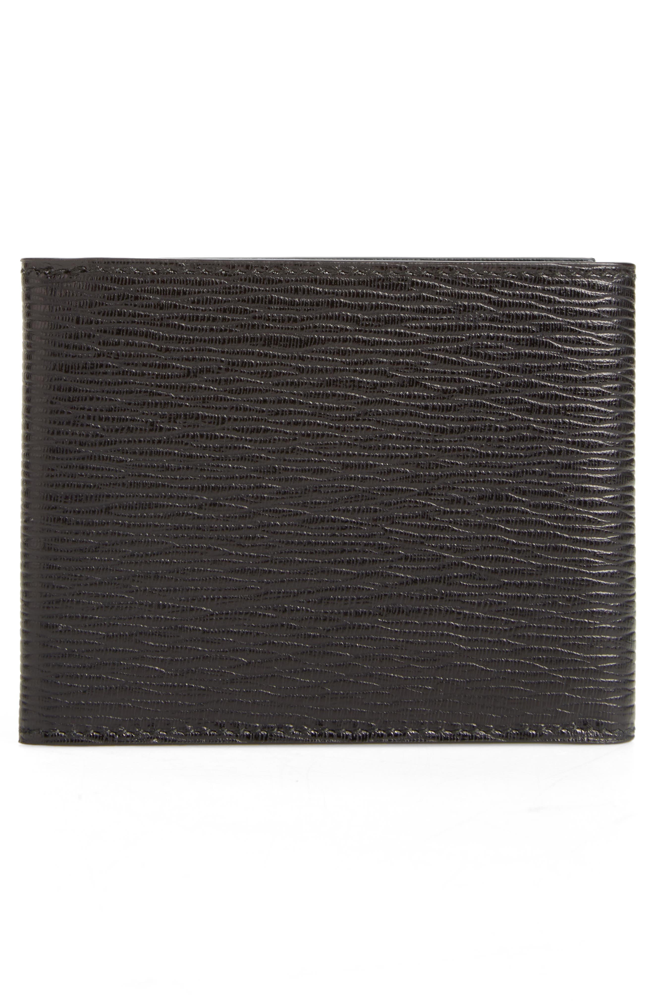Revival Leather Wallet,                             Alternate thumbnail 3, color,                             Black