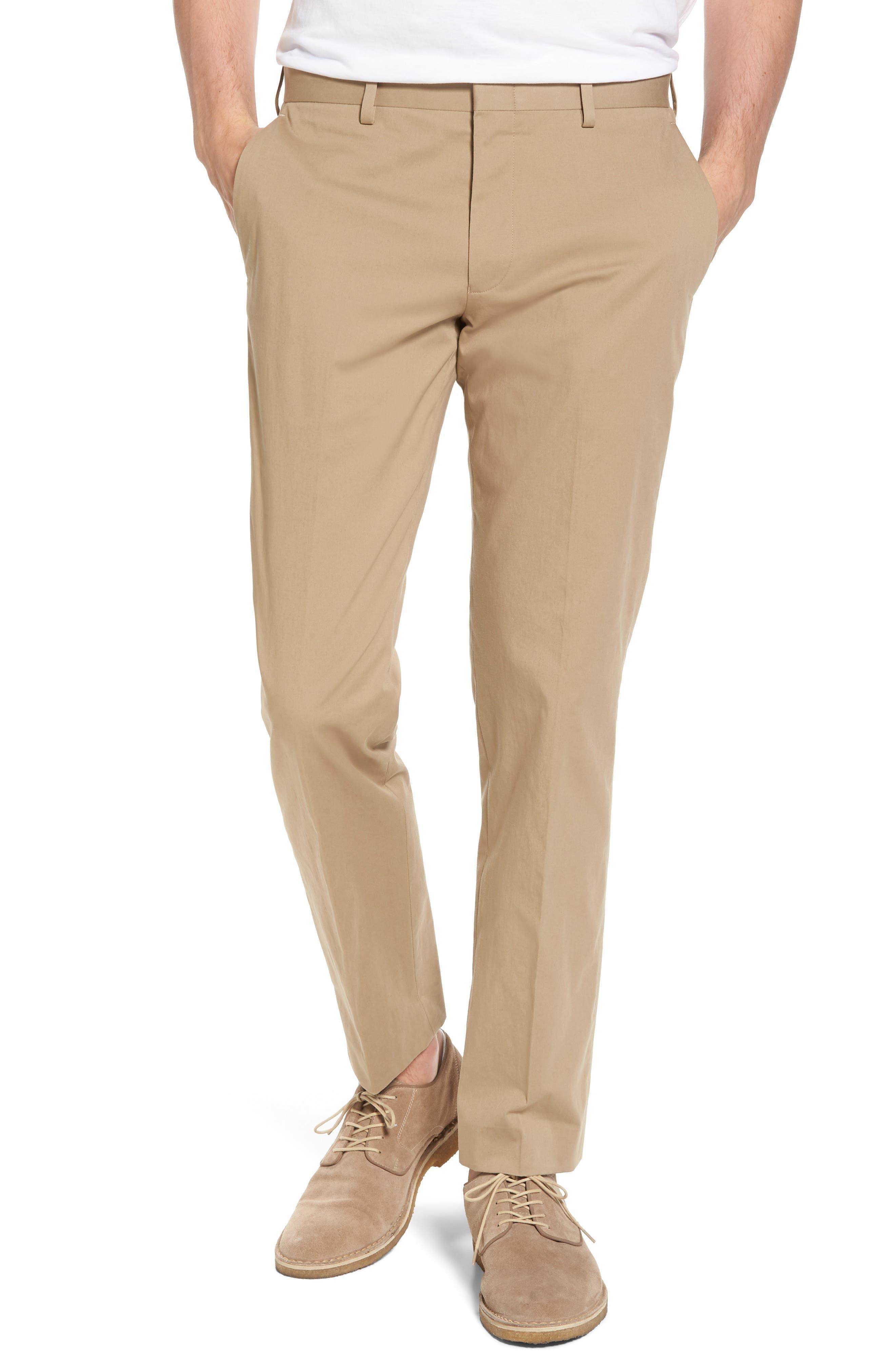 J.Crew Ludlow Stretch Chino Suit Pants,                         Main,                         color, Khaki