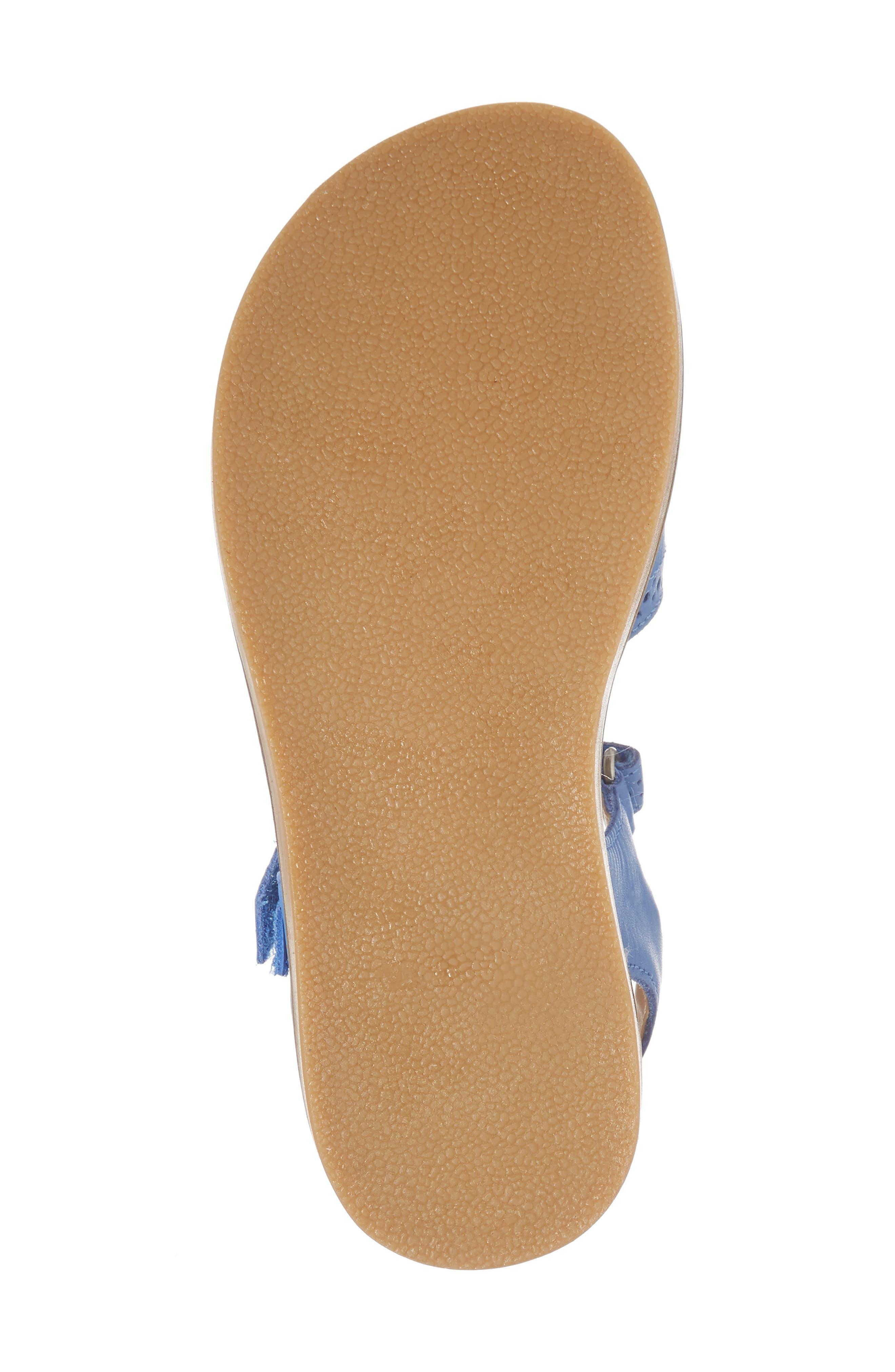 Adjustable Quarter Strap Sandal,                             Alternate thumbnail 6, color,                             Penzance Blue