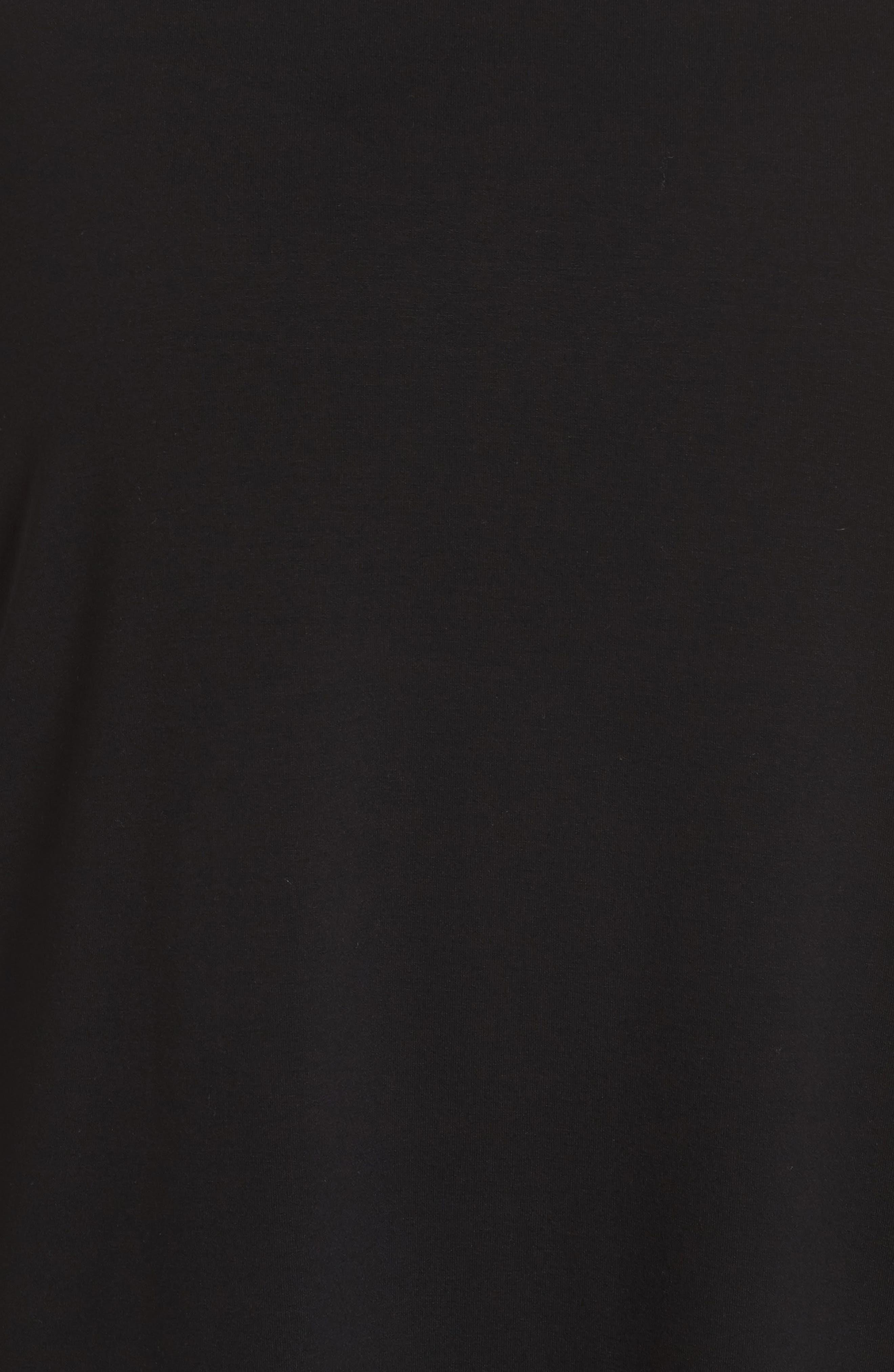 Colorblock Jersey Shift Dress,                             Alternate thumbnail 5, color,                             Black
